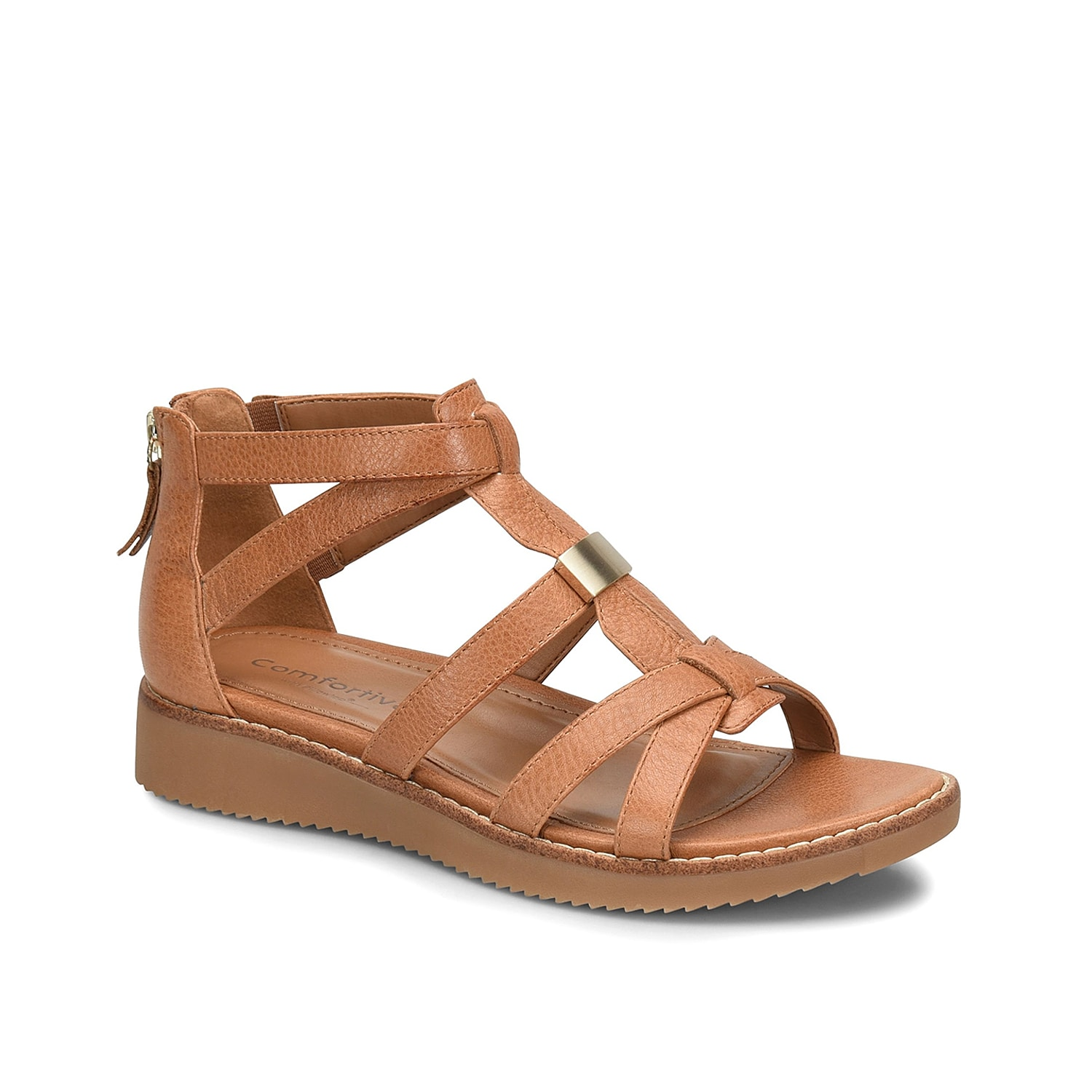 The Wyola gladiator sandal from Comfortivia will be your perfect companion all season long. This silhouette is fashioned with a leather construction and a low, EVA midsole that will give your steps a little lift!