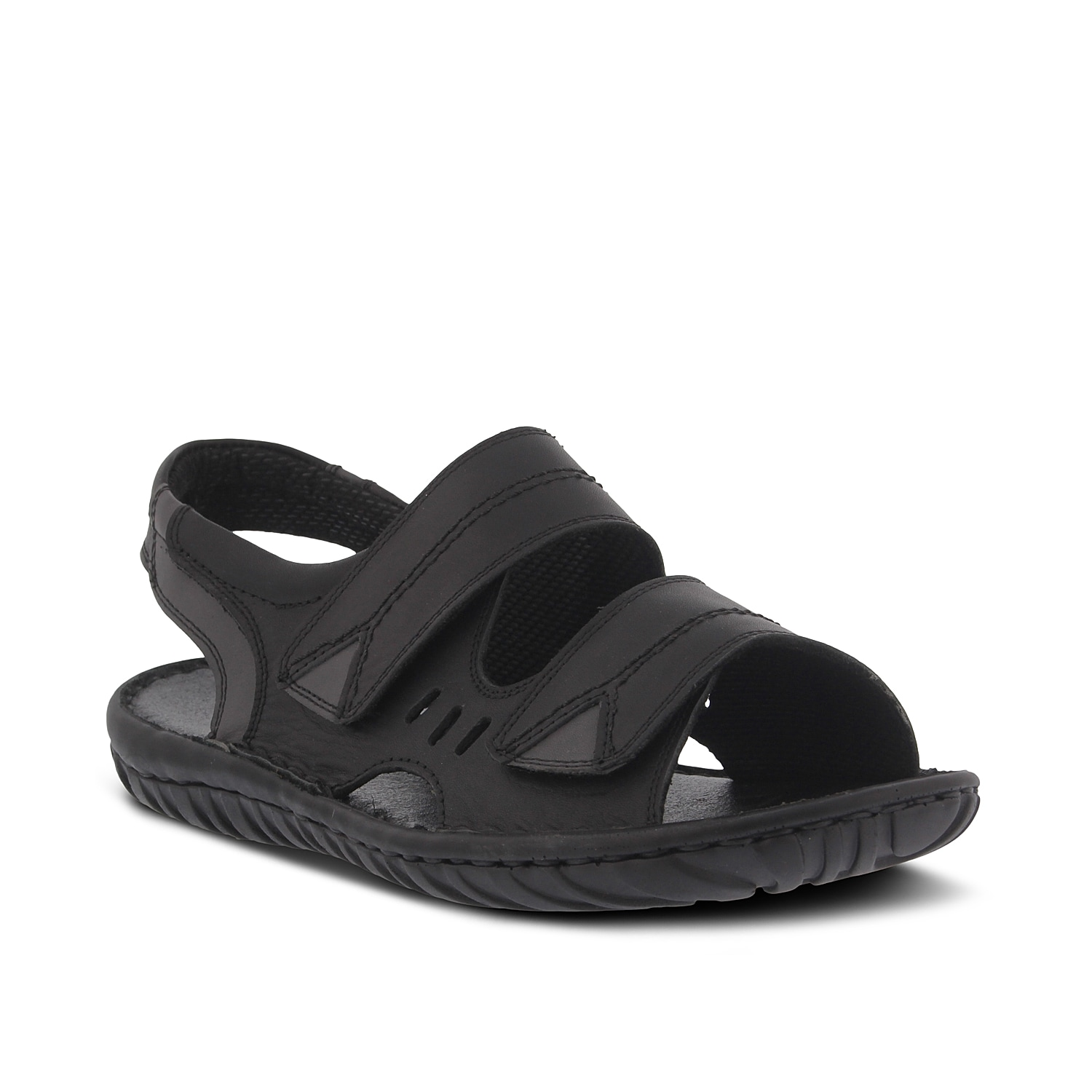 Enhance your look with the Diro sandals from Spring Step. These leather flats feature a cushioned insole to keep you going during an evening stroll or when exploring a new city.