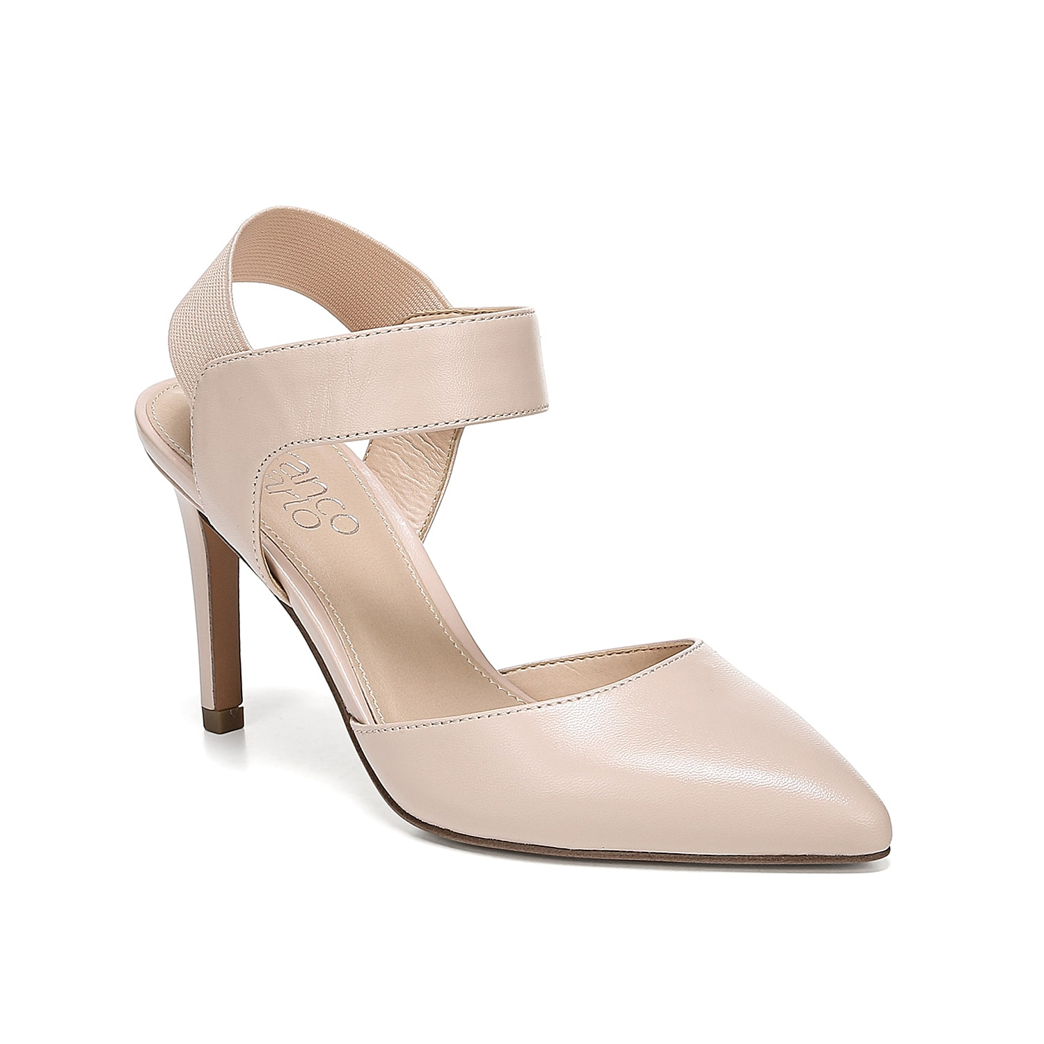 The Lima sandal from Franco Sarto is anything but ordinary! This pointed toe pair features an elastic slingback strap for a comfortable fit and is backed with a leather construction that makes any outfit pop.