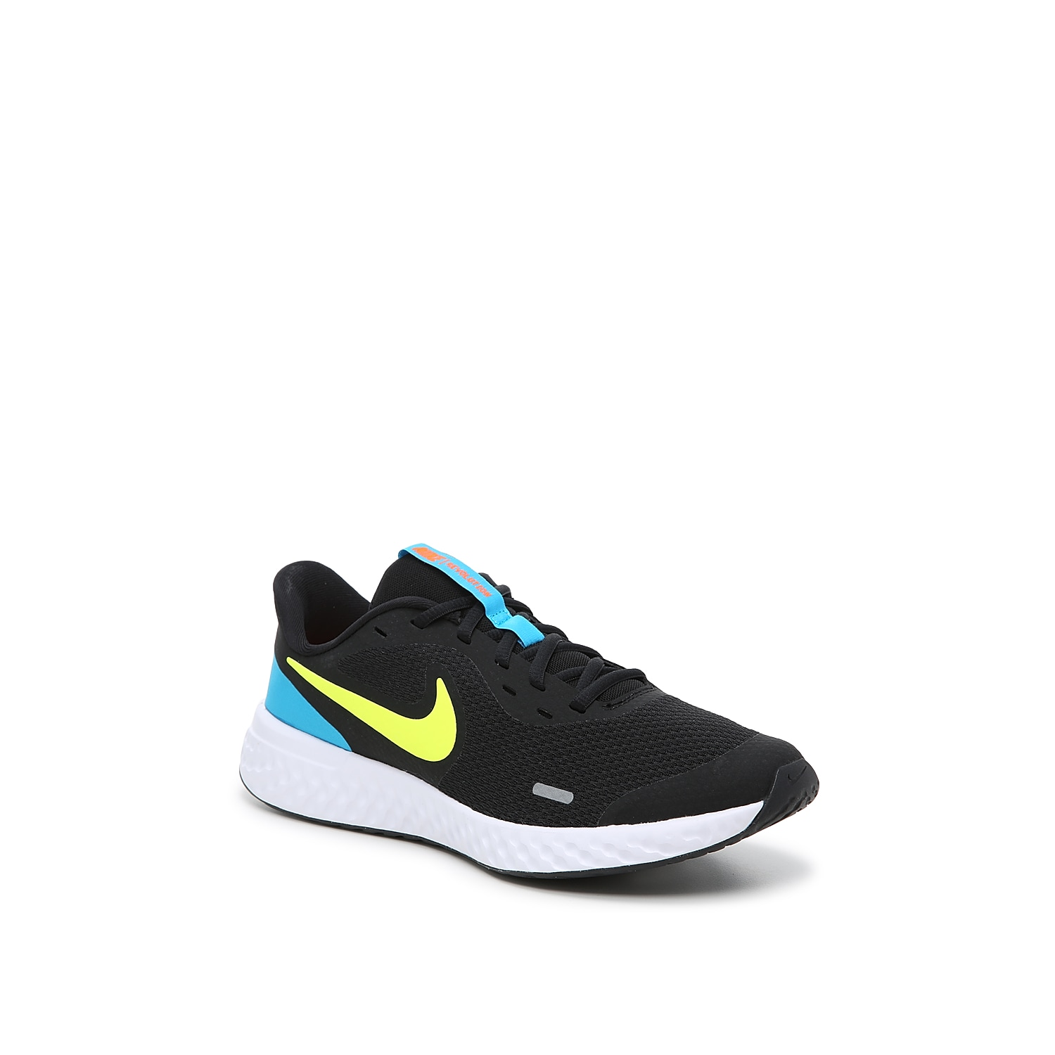 The ultra-lightweight Nike Revolution 5 sneaker is a playful pair that treats tiny toes to running bliss! This lace-up pair features a vibrant hue that will make his outfit stand apart from the rest!Not sure which size to order? Clickhereto check out our Kids' Measuring Guide! For more helpful tips and sizing FAQs, clickhere.