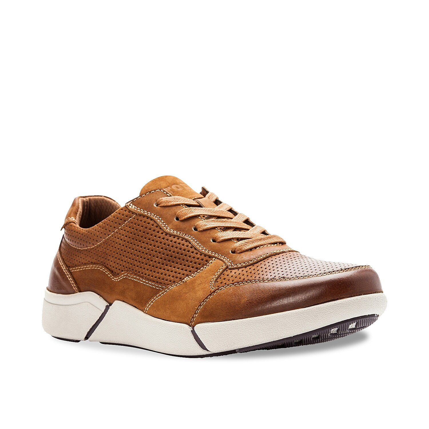 Stay on top of your day in the Landon sneakers from Propet. These leather lace-ups feature a perforated design and are backed by a lightweight midsole for lasting support.