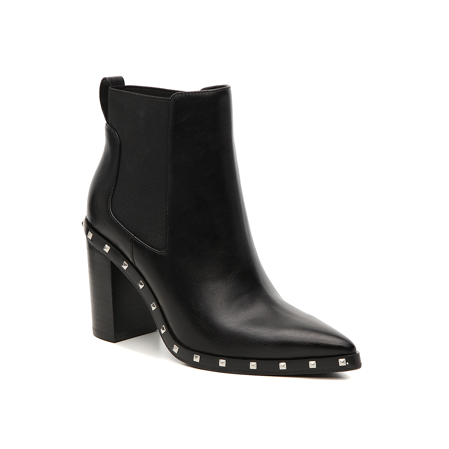 The Dodger chelsea boot from Charles by Charles David is unlike any others. This sleek pair is fashioned with a refined, pointed toe and a studded trim that will give your ensemble the perfect edge!