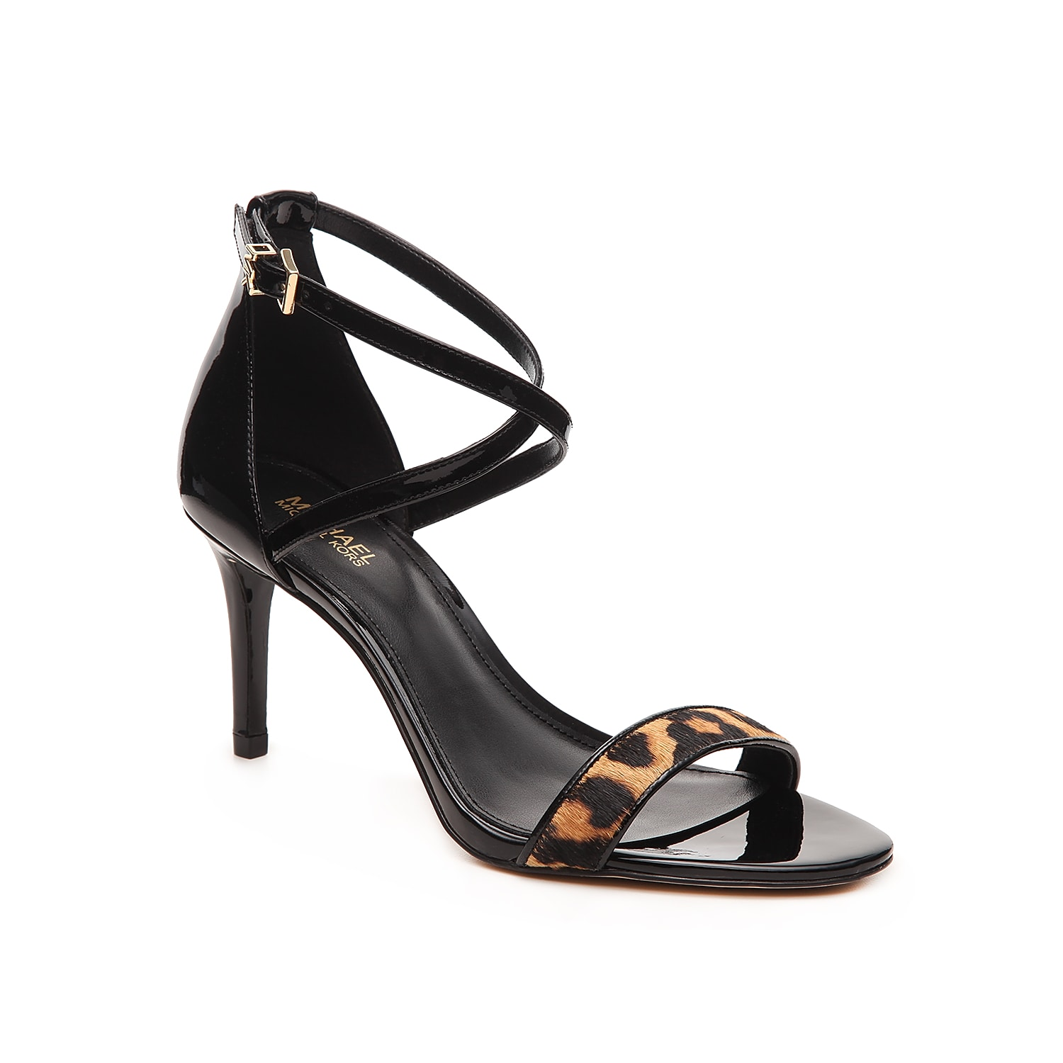 Simple, barely-there styling makes the Ava sandal from Michael Michael Kors endlessly fashionable. The pop of animal print instantly dresses up your favorite date-night Lbd.