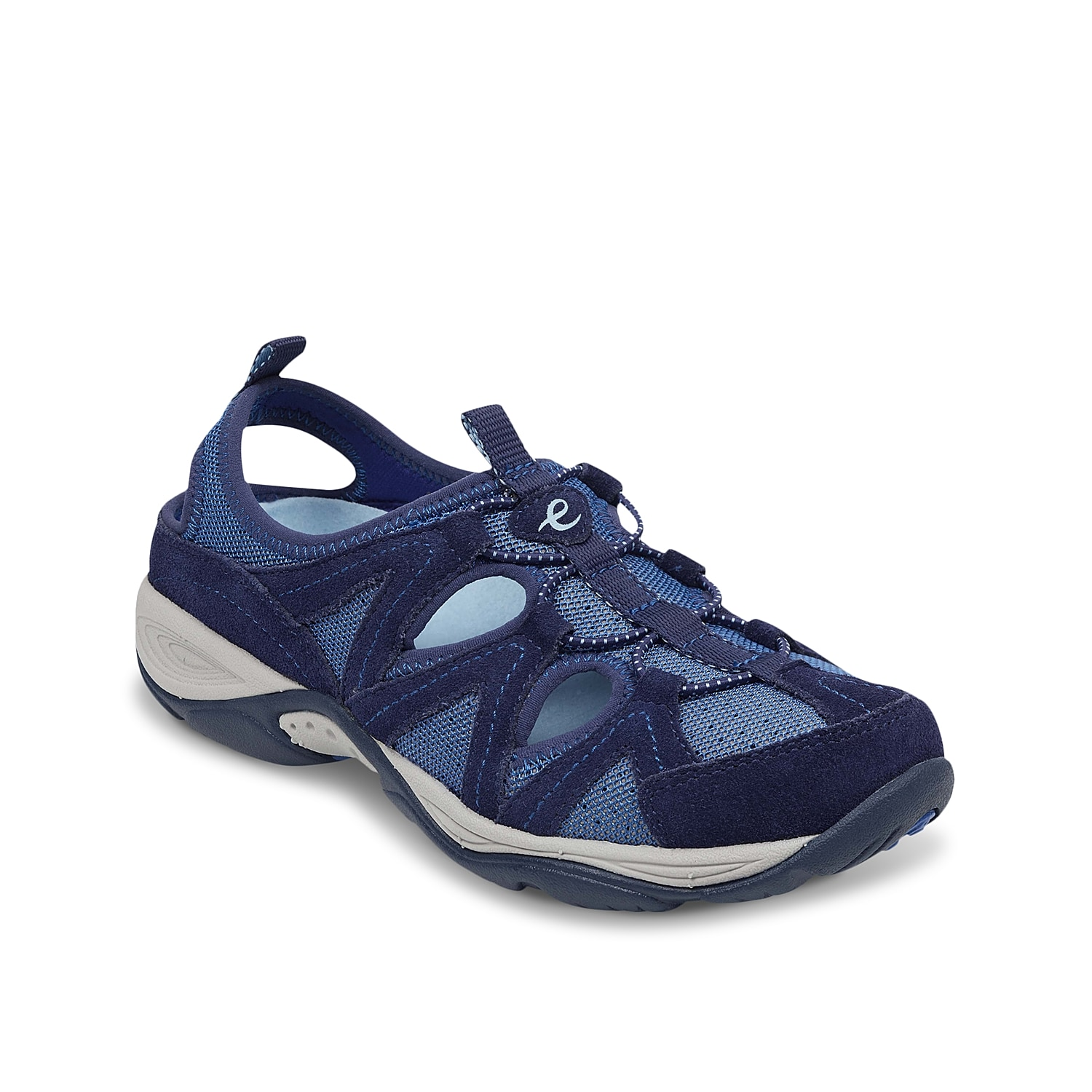 The Earthen sneaker from Easy Spirit will be a sporty alternative to your sneaker collection. These slingbacks feature breathable cutouts for daylong comfort and is backed by a removable contoured footbed for extra arch support.