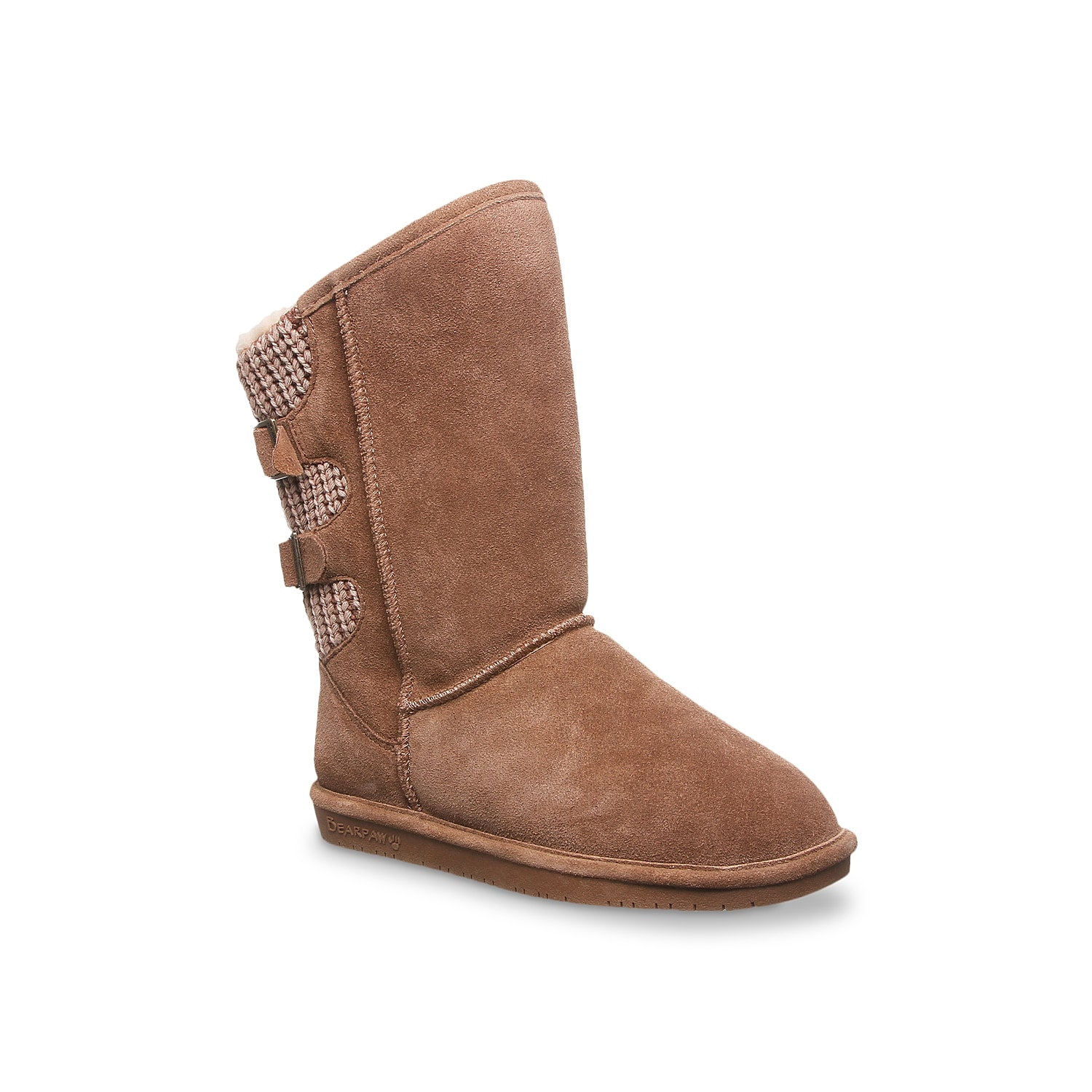 Enjoy the vibe and warmth that the Bearpaw Boshie boot has to offer. Premium suede with a washed finish is backed by wool-blend lining and shearling footbed for improved comfort.Click here for Boot Measuring Guide.