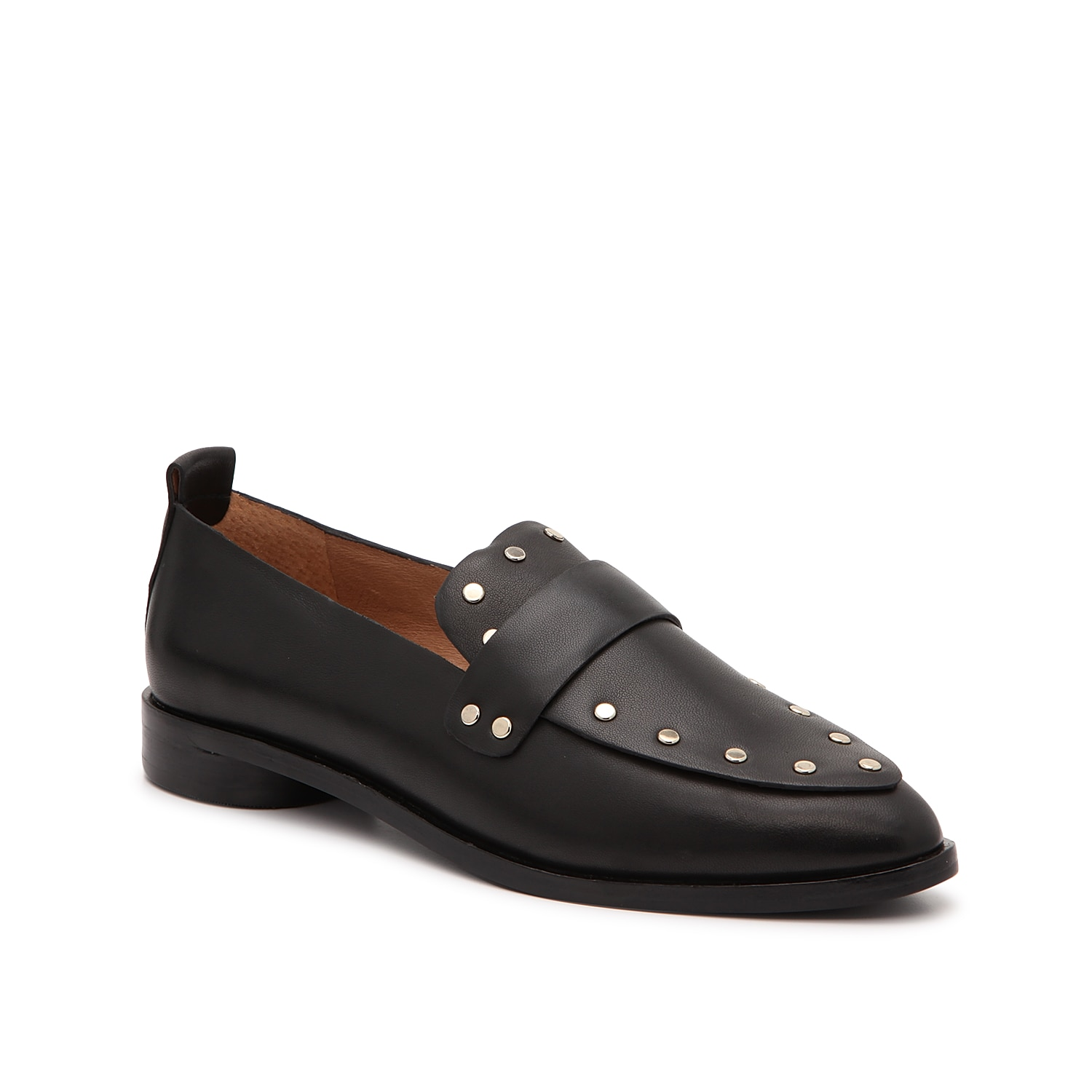 Give your ensemble an on-trend look with the Taron loafer from Joie. This flat is fashioned with smooth leather upper and stud embellishments for the perfect edge!
