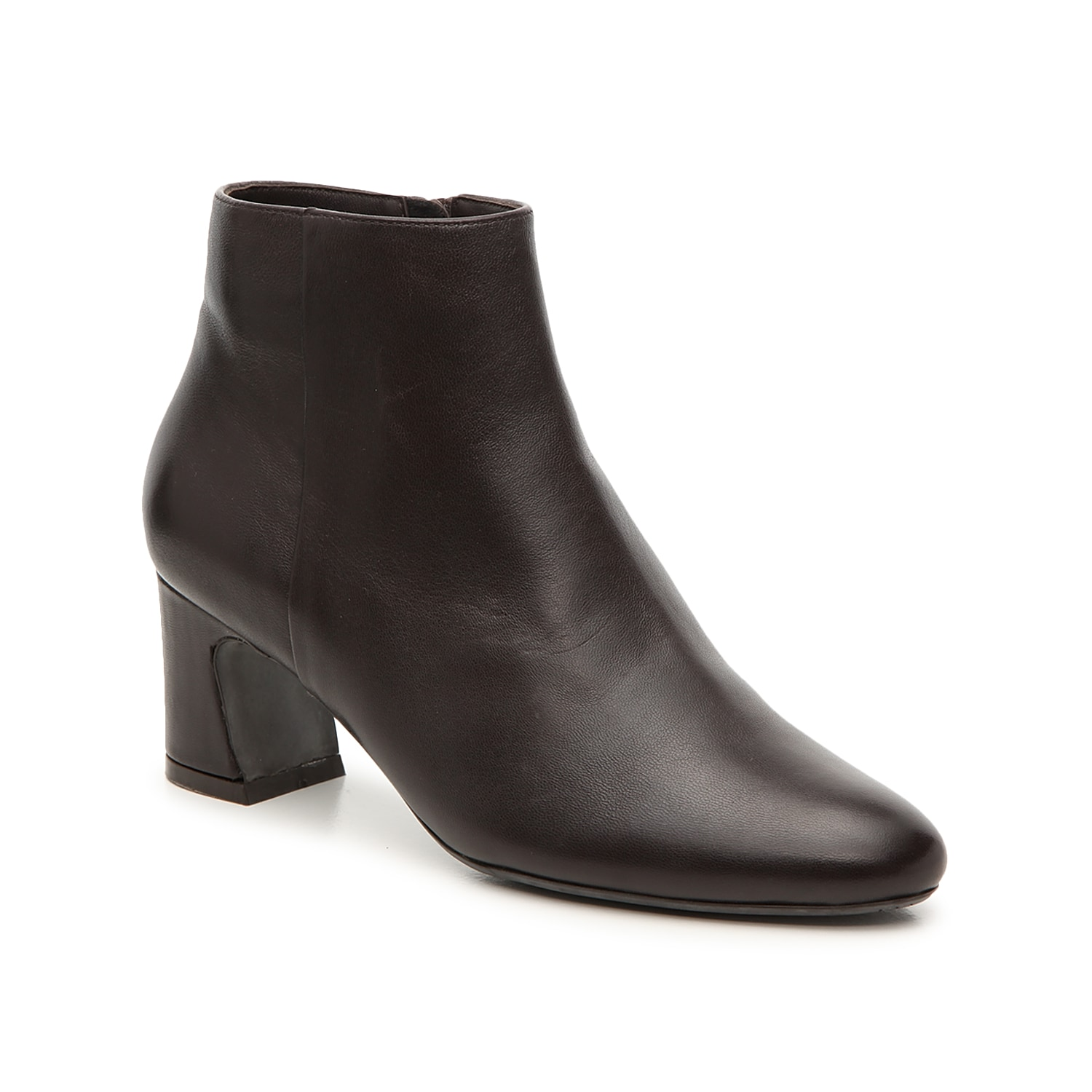 Smooth styling defines the Dany ankle boot from VANELi. These booties are boosted by a mid-rise heel that\\\'s slightly flared at the base.