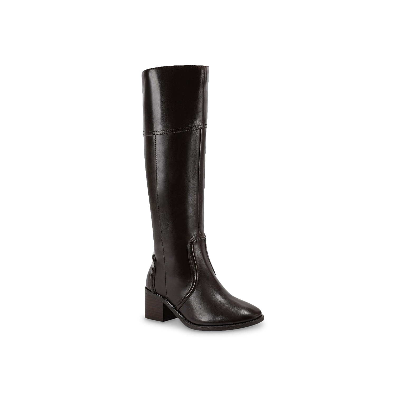 Streamline your cool weather look with the Ritly boot from Marc Fisher. A smooth leather upper rocks a riding boot inspired design for added modern styling.Click here for Boot Measuring Guide.
