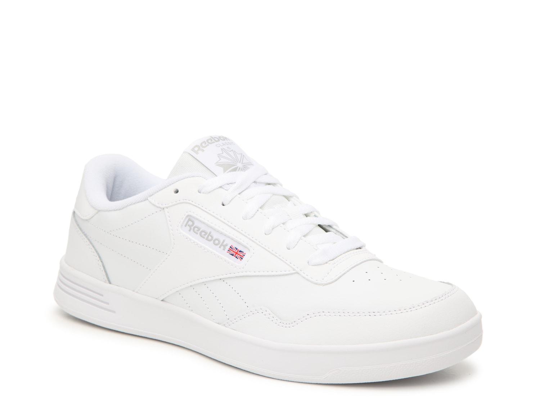 reebok all white sneakers