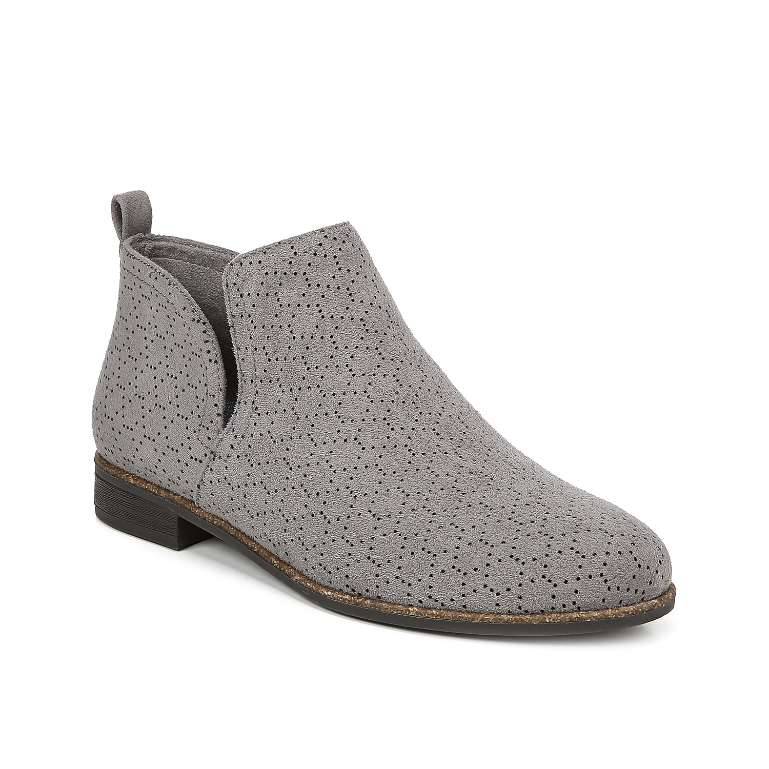 The Rate boot from Dr. Scholl\\\'s will be the perfect finishing touch to your cool-weather look. These ankle boots feature a modern perforated design and an asymmetrical topline for added style.