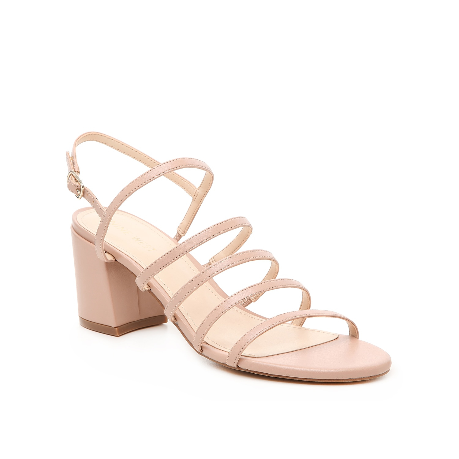 The Unique sandals from Nine West are the perfect barely there shoes! The lightly cushioned insole and block heel will give you support and stability through all your events!