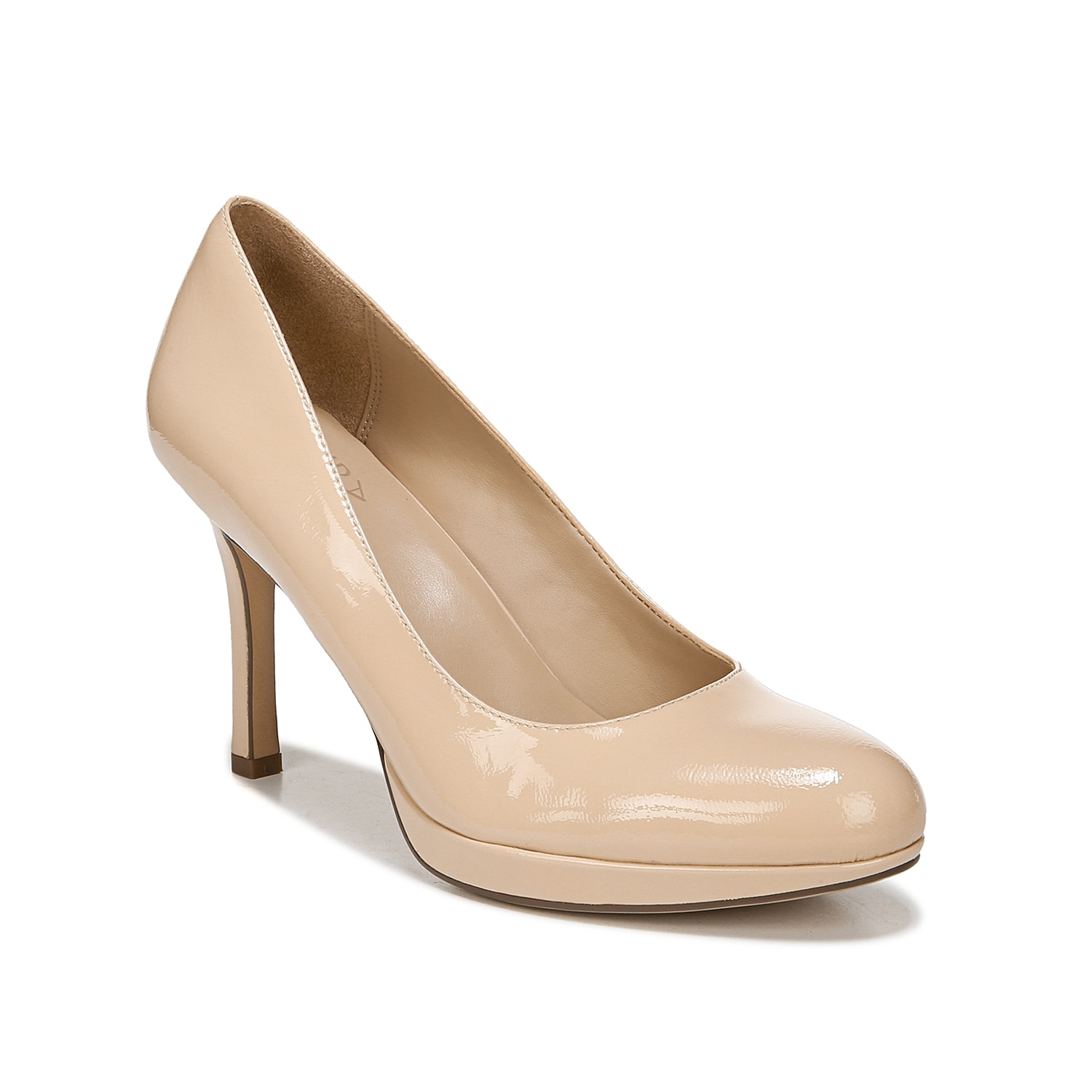 Dress you your ensemble up in comfort and style with the Celina pump from Naturalizer. This silhouette is fashioned with a towering heel and padded footbed that will keep you on your feet!