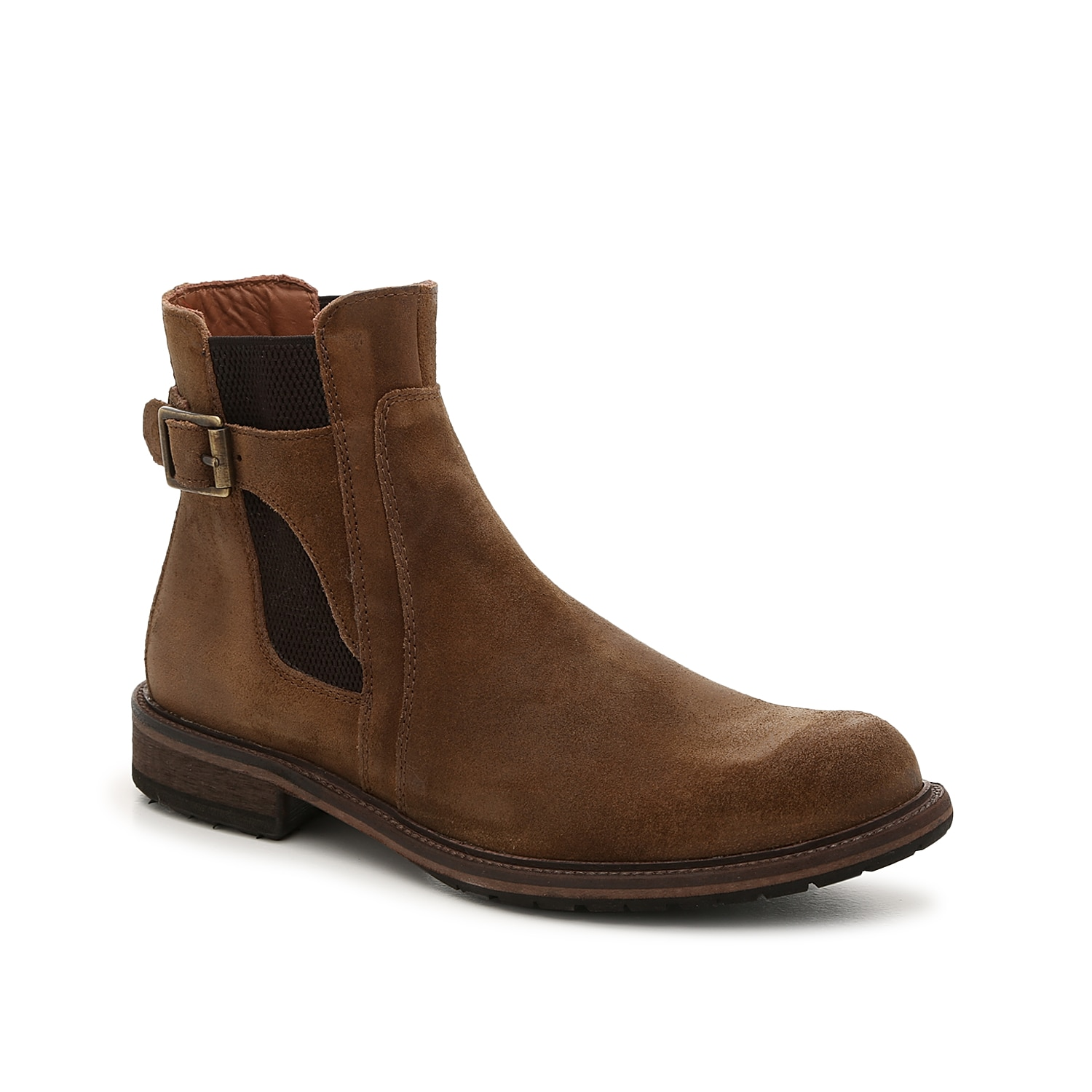 Take your personal look up a notch with the Lofting boot from Johnston & Murphy. Featuring a classic Chelsea boot design with a decorative buckle accent, this ankle boot exudes trendy yet tailored style.