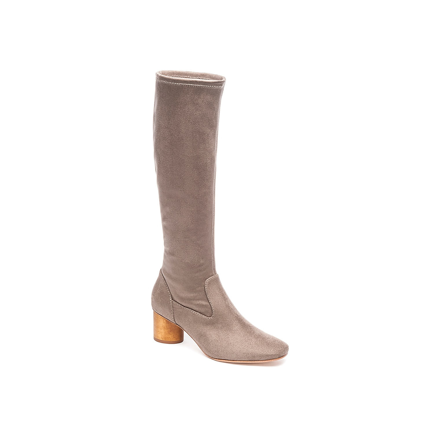 Bring plenty of sophisticated to jeans, cardigans, or sweater dresses with the Dea boot from Bernardo. These tall boots feature a soft suede upper and cylindrical wooden block heel for an added pop! Click here for Boot Measuring Guide.