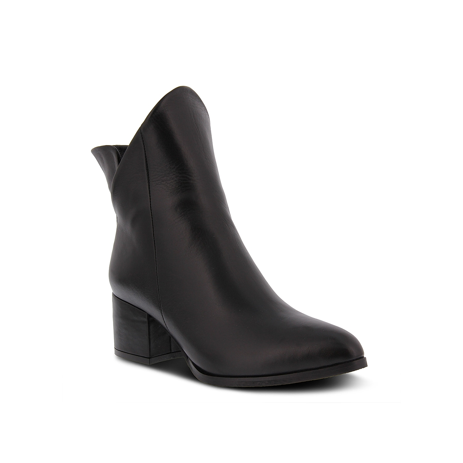 Turn heads in the Priscila bootie from Spring Step. This leather pair features an asymmetrical topline and pointed toe for a sleek silhouette.Click here for Boot Measuring Guide.