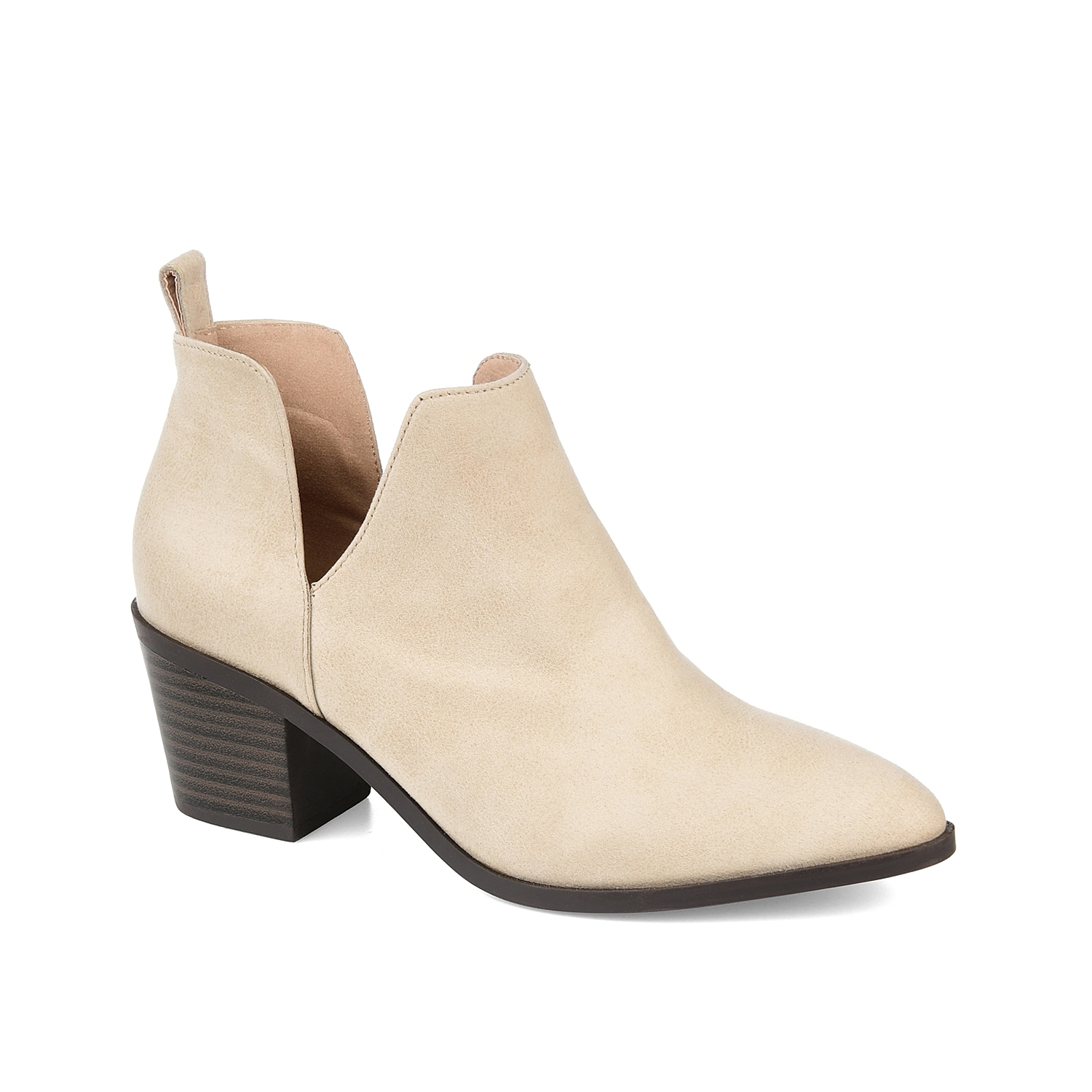 The Lola bootie from Journee Collection will give your wardrobe limitless styling options. This ankle boot is fashioned with side V-cuts and a chunky block heel for the perfect amount of height!