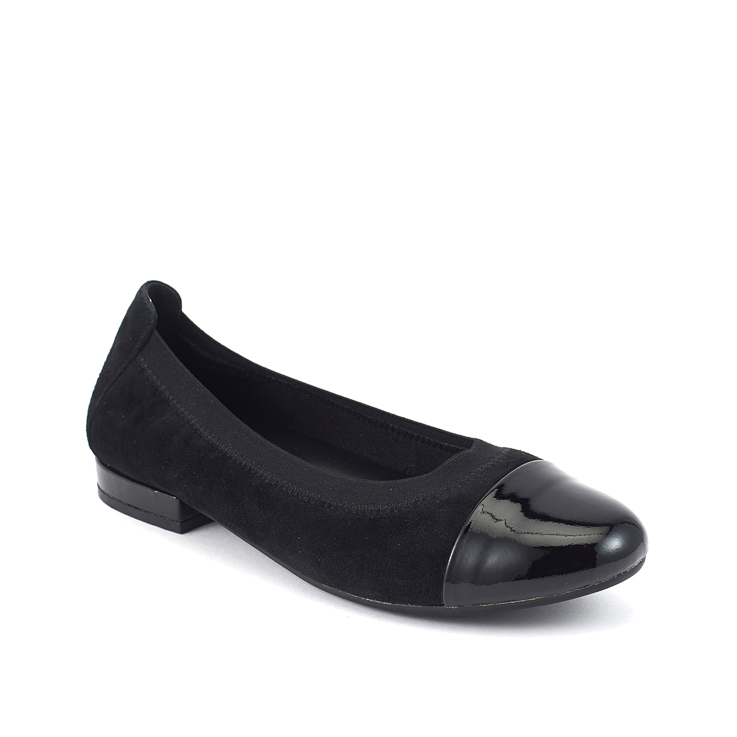 The Nikki ballet flat from David Tate will express your favorite style. This slip-on is fashioned with an elasticized topline and a rubber sole for durable and flexible steps.