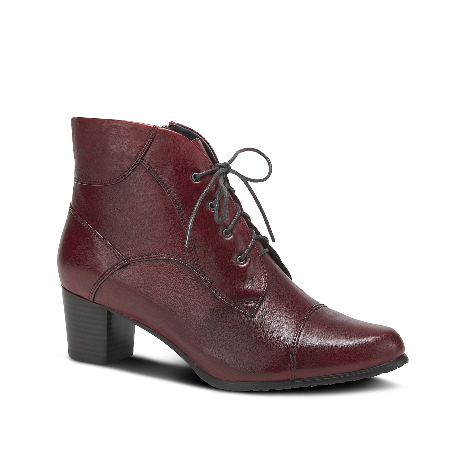 Add a classy finish to cool weather looks with the Larma bootie from Spring Step. This ankle boot features a sleek almond toe and low block heel for versatile style.Click here for Boot Measuring Guide.