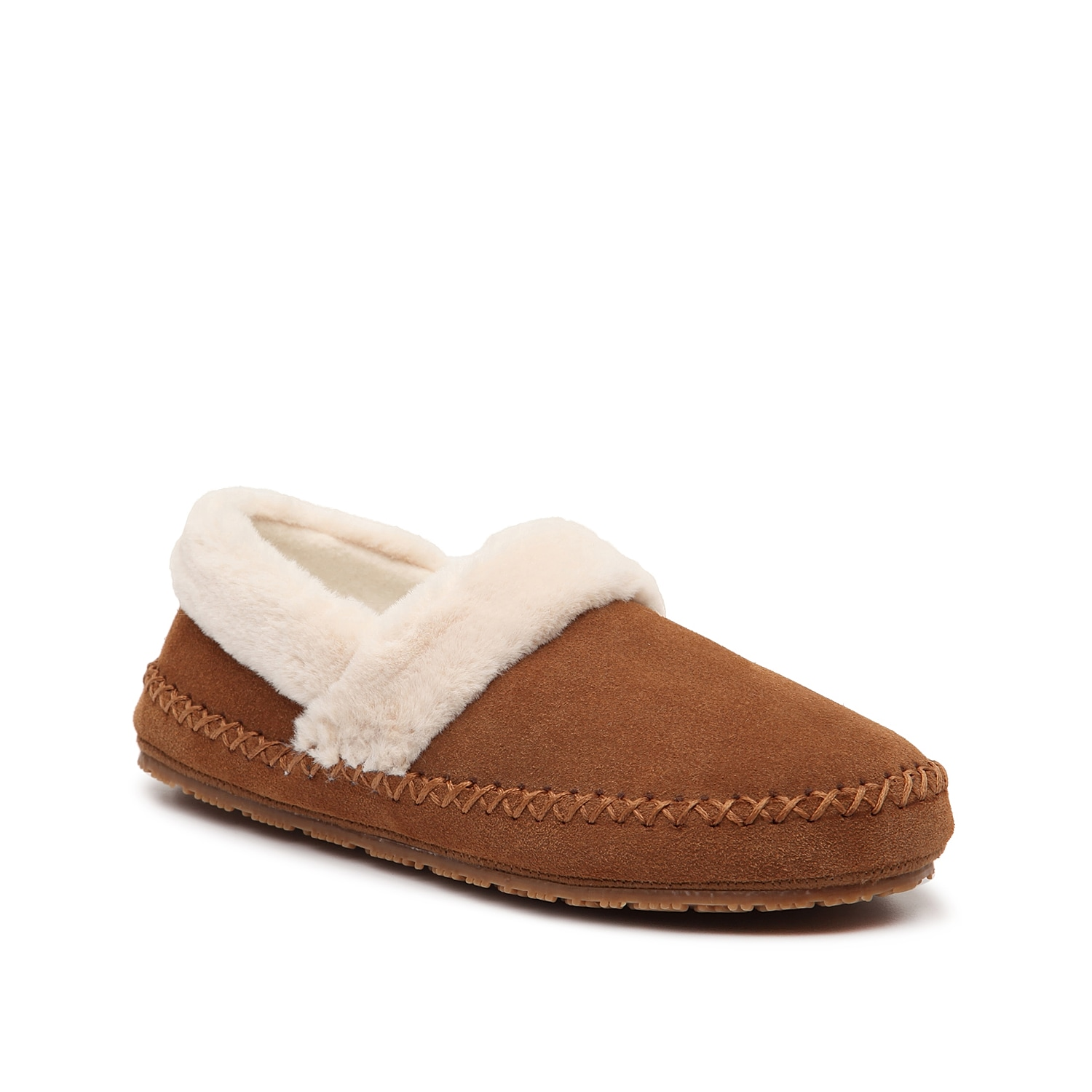 Sit back in the Acelynn slippers from Tempur-Pedic. These slip-ons feature whipstitch detailing for visual appeal and a Tempur-Pedic® footbed for relax-ready comfort.