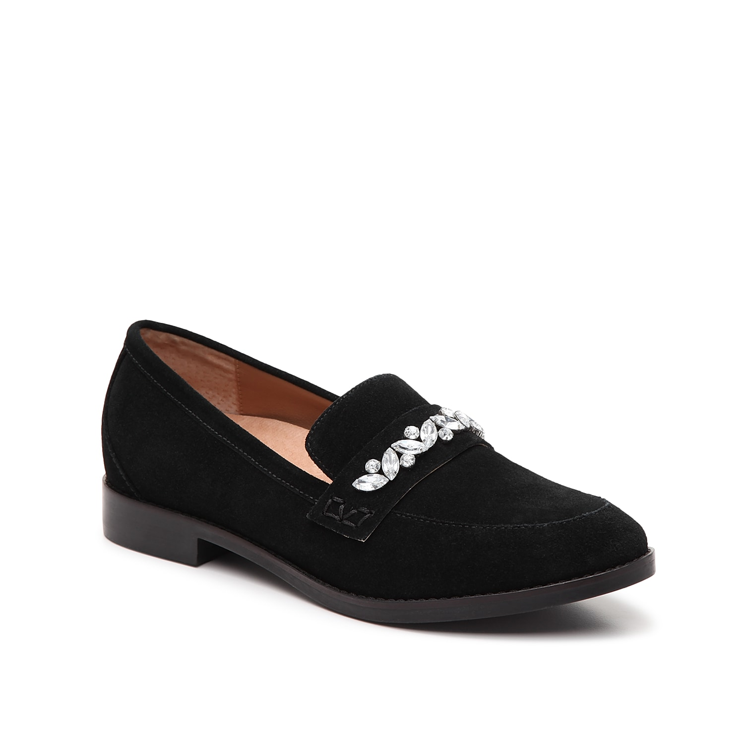 Bring sophisticated looks to your ensemble with the Avvy loafer from Vionic. This slip-on pair is fashioned with a suede upper and rhinestone embellishments for extra dazzle!