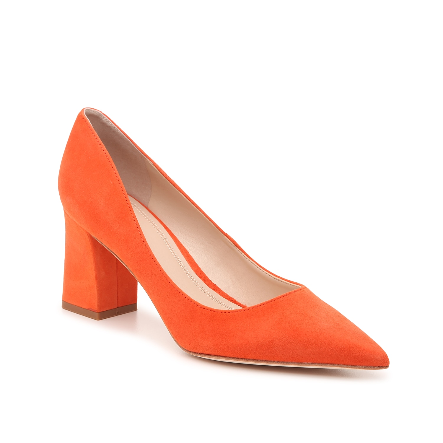 Flaunt your vibrant personality with the Zala6 pumps from Marc Fisher Ltd. This pointed toe pair features a lively hue and square block heel to bring extra character to printed dresses or skirts.