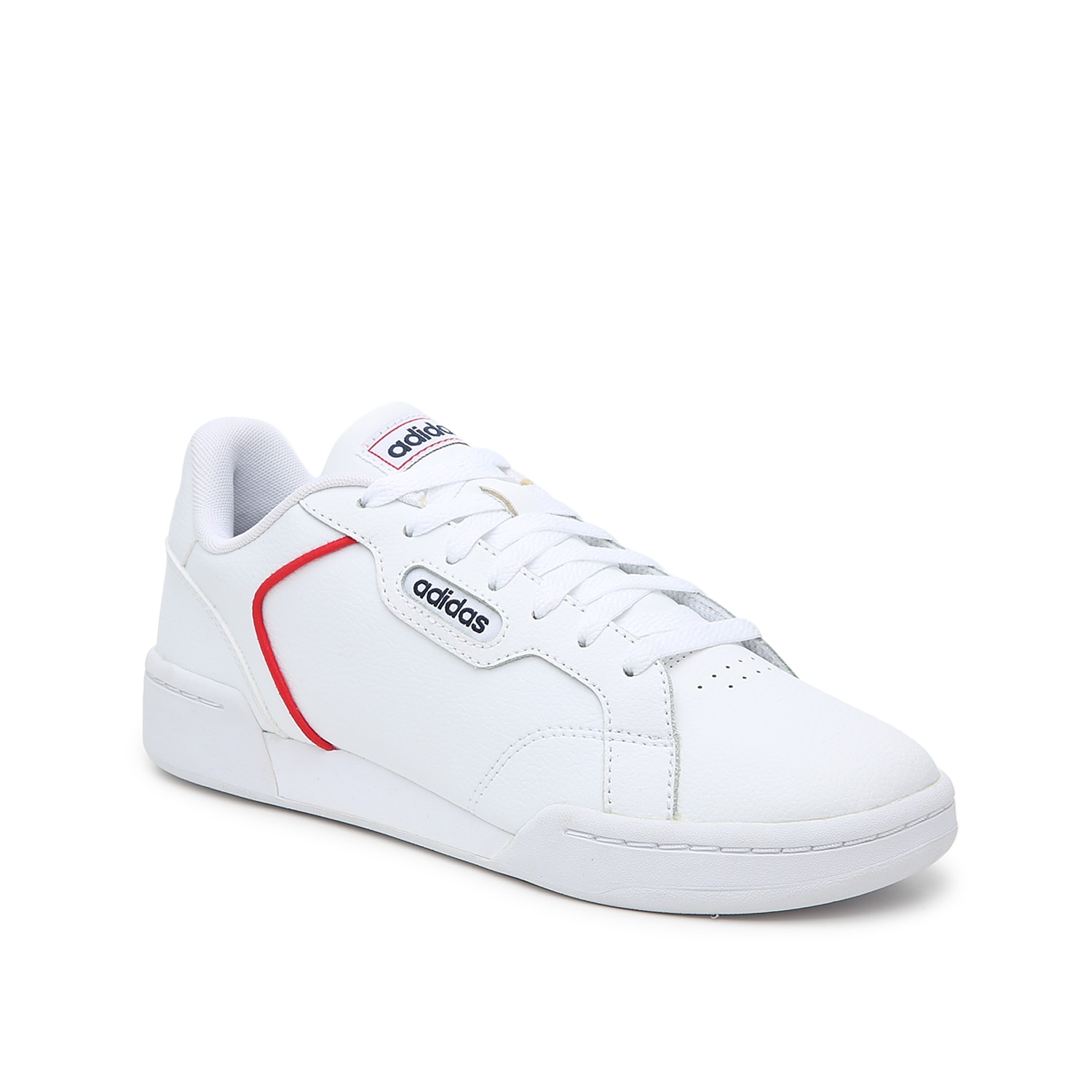 The women\\\'s Roguera sneaker from adidas rocks a retro design with modern comfort. A padded collar, plush footbed, and EVA midsole cushions every step.