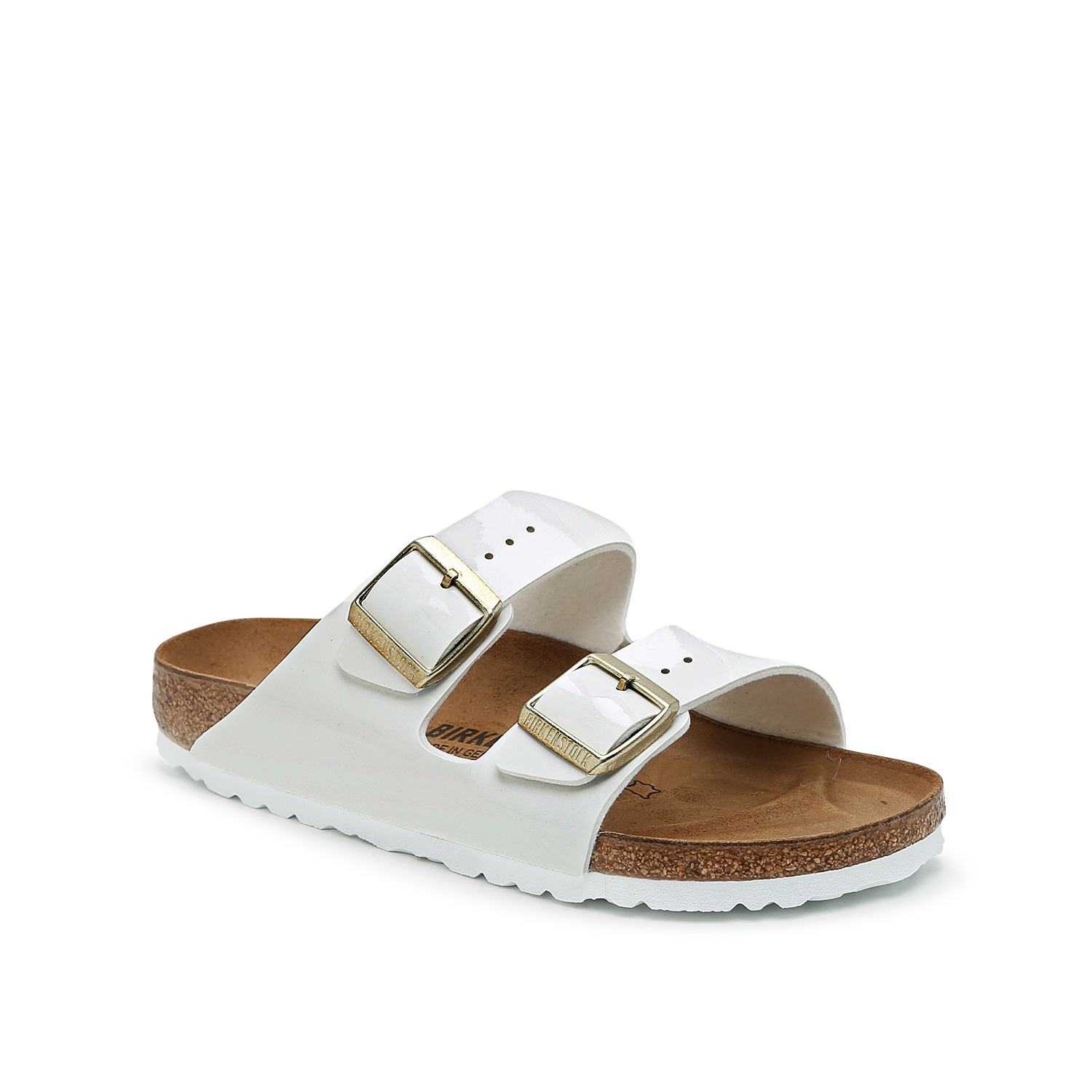 The women\\\'s Arizona sandal from Birkenstock will bring a classic spin to warm weather looks. These slides feature a contoured footbed that will make this pair your go-to for any occasion.