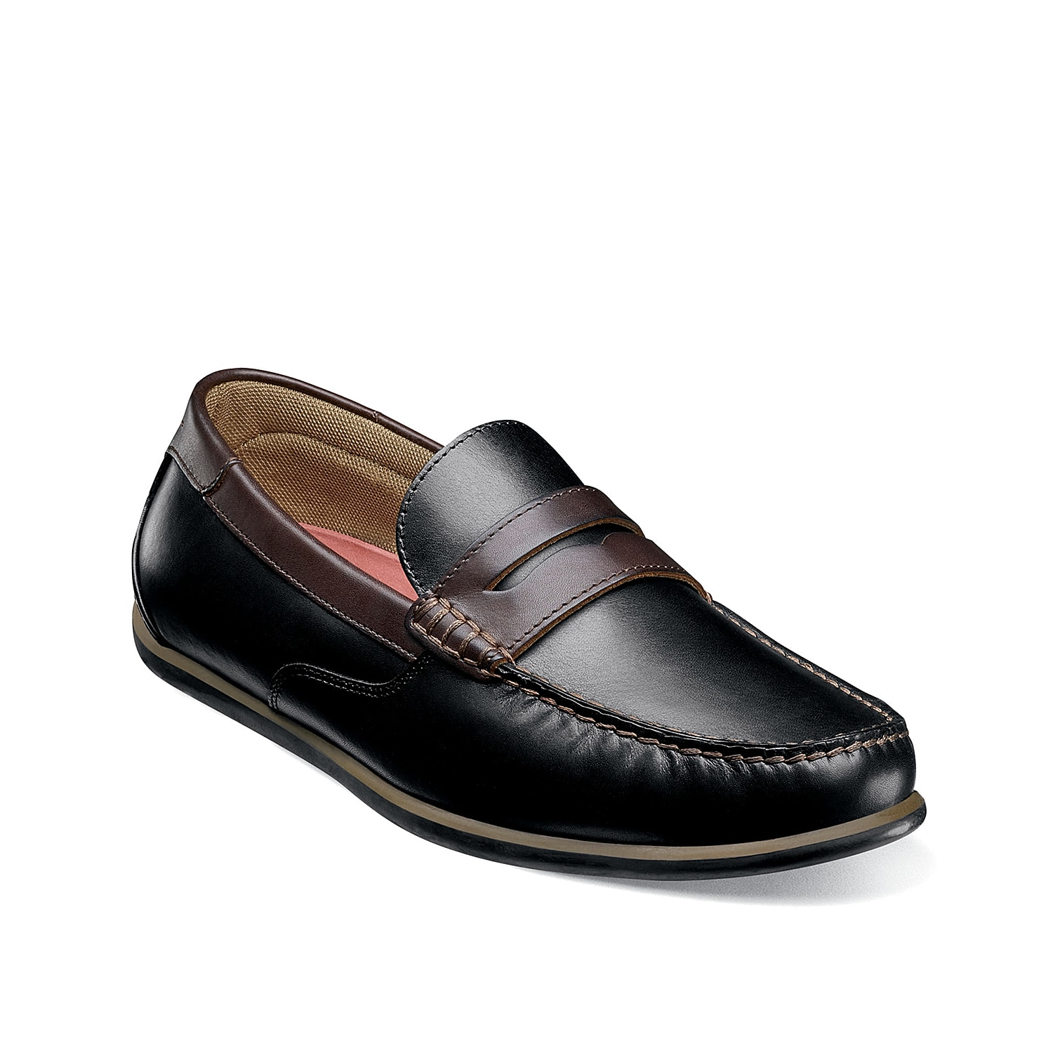 Impress all you pass by in the 13350 Sportster penny loafer from Florsheim. These slip-ons feature a classic moc toe design and a rubber driver sole for a prestigious finish.
