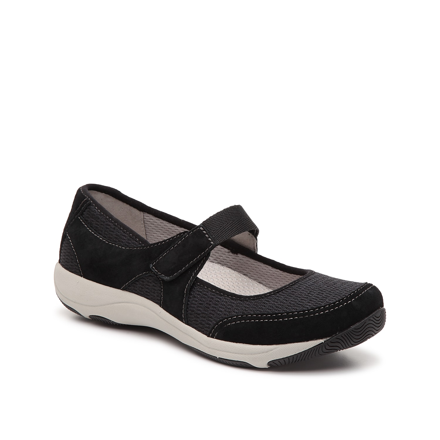 Cushioned steps come easy with the Hennie slip-on from Dansko. This silhouette is fashioned with a suede and mesh construction with a removable insole for all the comfort!