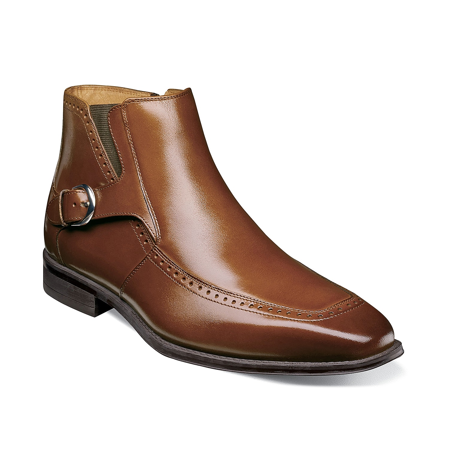 Spruce up your special occasion attire with the Patton from Stacy Adams. These sleek leather boots feature a modern square toe and decorative buckle that will catch the attention of those you pass by.
