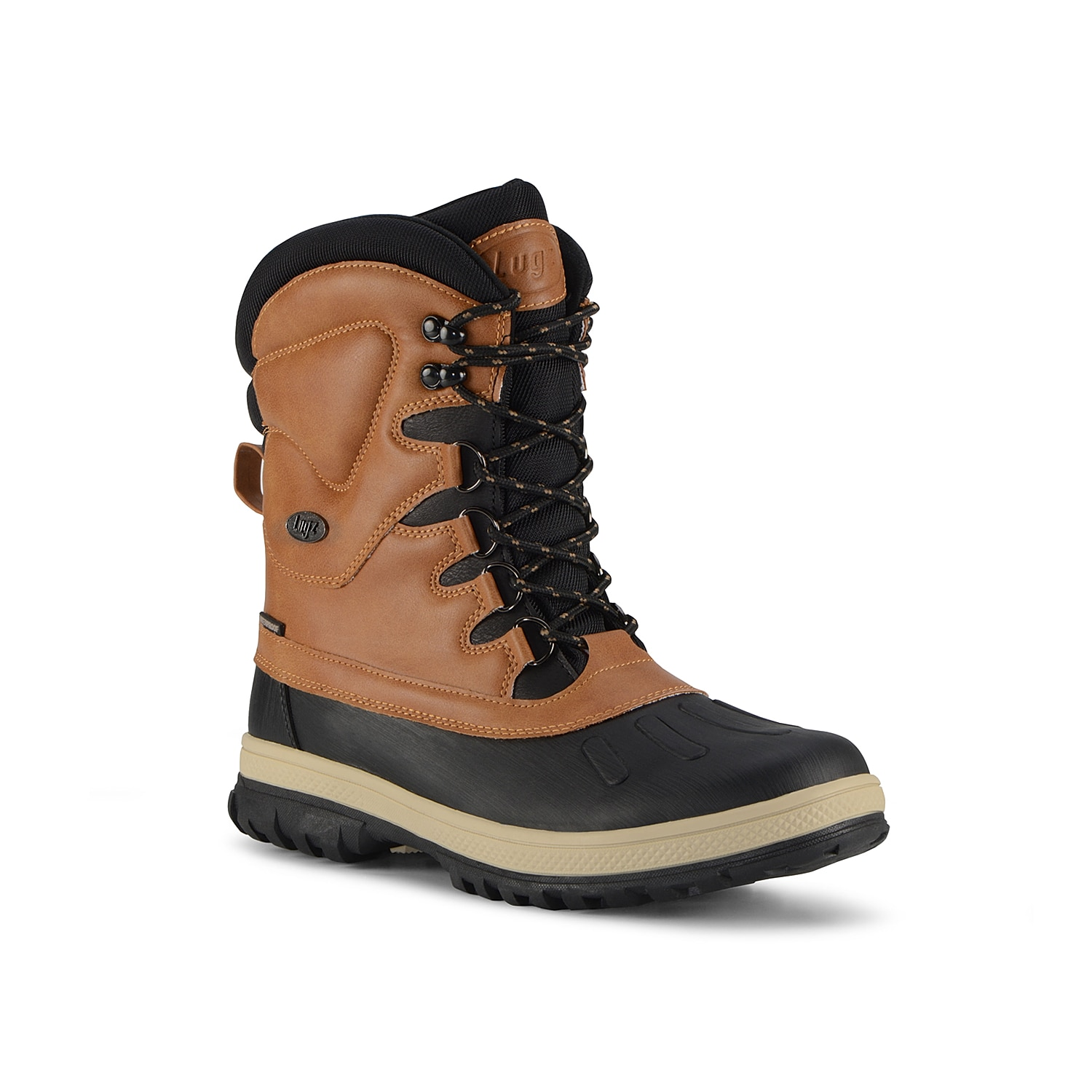 The cold weather season is no match for the Anorak duck boot from Lugz! A rubber traction sole ensures sturdy steps while the faux fur lining keeps you extra cozy.