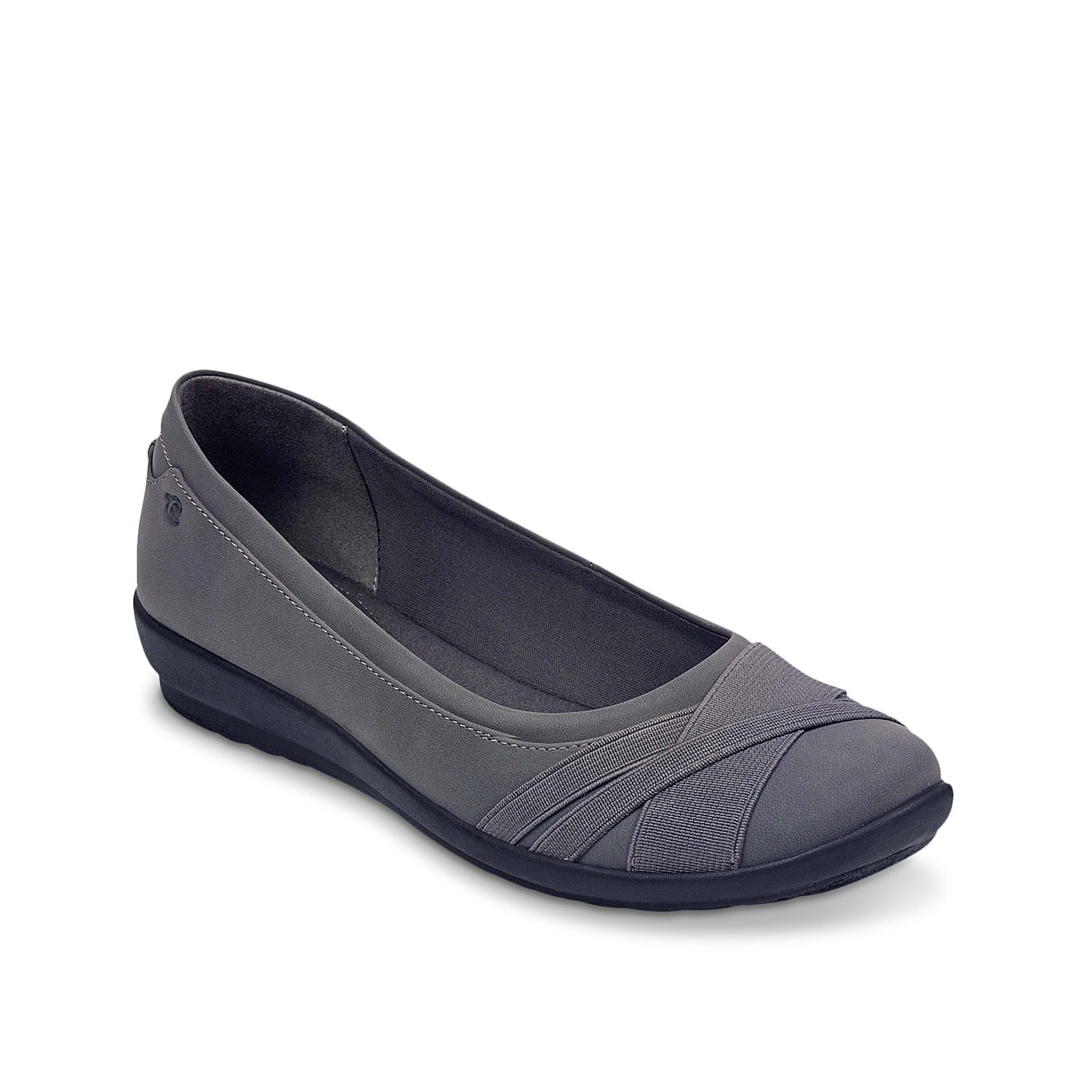 Flatter your work or weekend wardrobe with the Acasia ballet flats from Easy Spirit. These slip-ons feature elastic detail at the toe and a flexible sole for superior comfort.