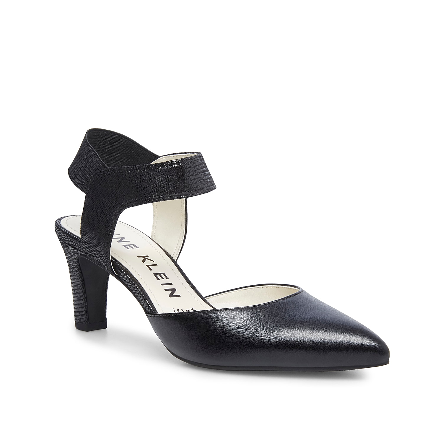 Upgrade your late night looks with the Katia pump from Anne Klein. This silhouette is fashioned with an iflex cushioned footbed and an elastic slingback strap for sturdy steps!
