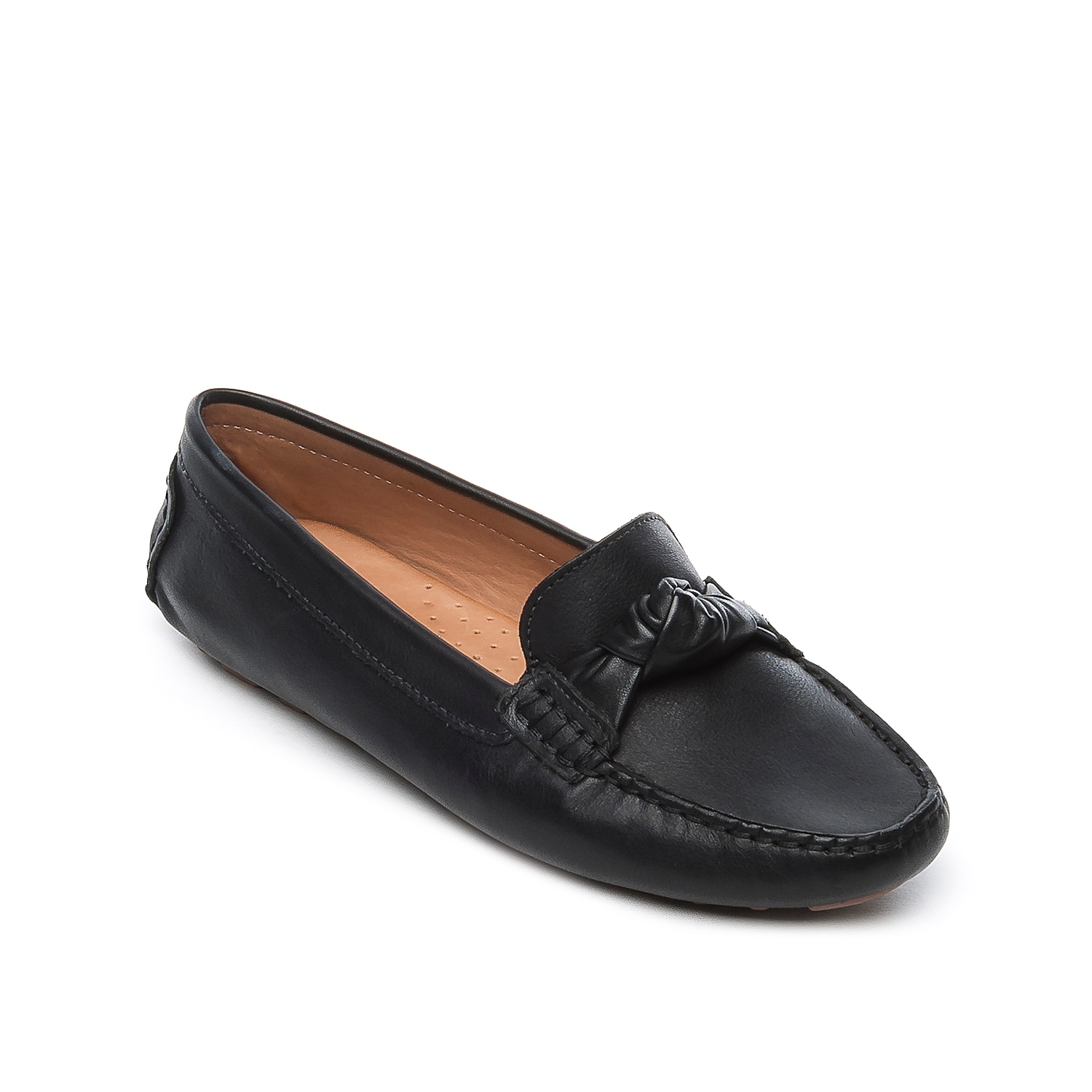 The Janie loafer from Bernardo will take you from work to happy hour. This leather flat is fashioned with a knotted accent that you can pair with anything from midi skirts to skinny jeans and a basic tee.