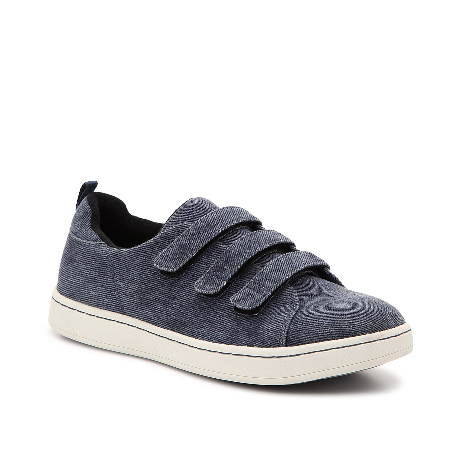 Complement your casual shoe collection with the Ski sneaker from Drew. The denim upper and hook and loop straps create a fresh finishing touch!