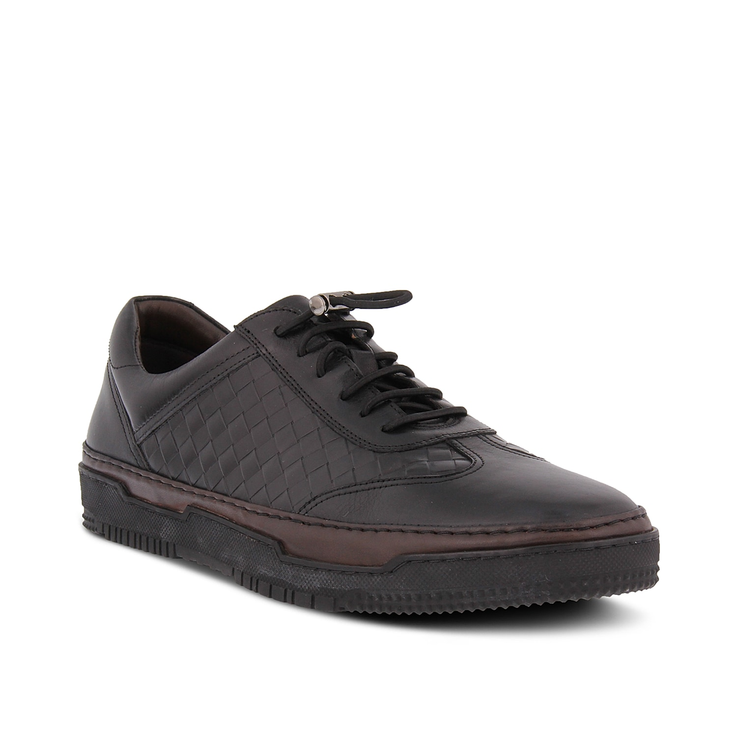 Bring distinguished style to your casual look with the Michael sneaker from Spring Step. These leather kicks feature bungee lacing for a custom fit and a leather sole for extra grip.