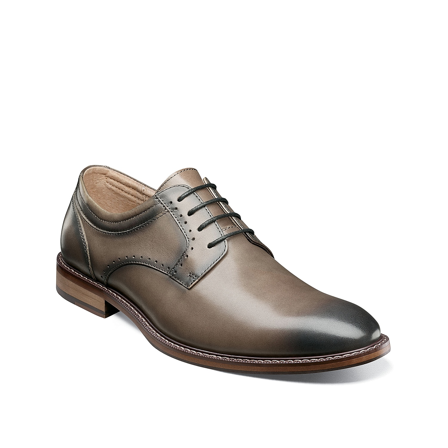 The Faulkner oxford from Stacy Adams features a traditional design with modern updates. This leather lace-up features a memory foam footbed for all day comfort!