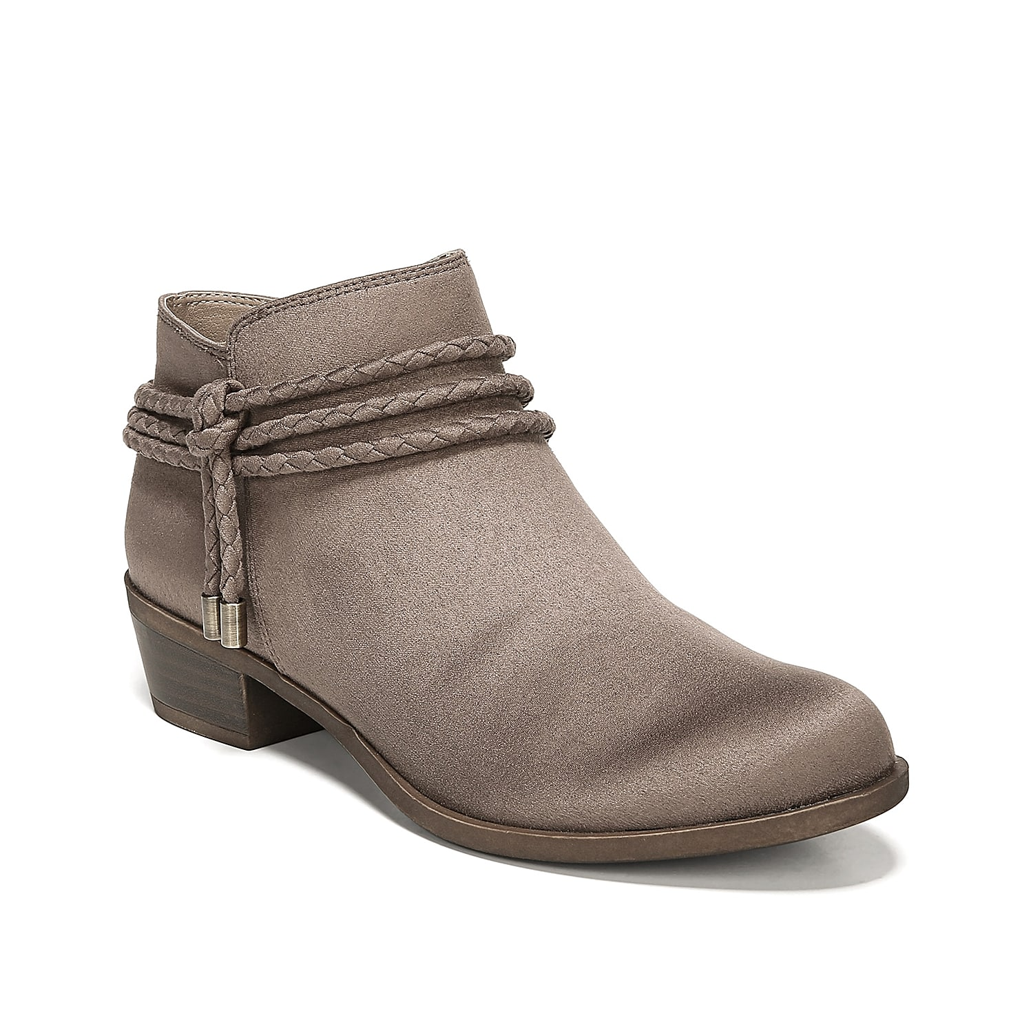 Braided straps circle around the Andrea bootie from LifeStride and bring a free-spirited accent to your look. These ankle boots are grounded with a SoftSystem® footbed to keep you comfortable all-day long. Click here for Boot Measuring Guide.