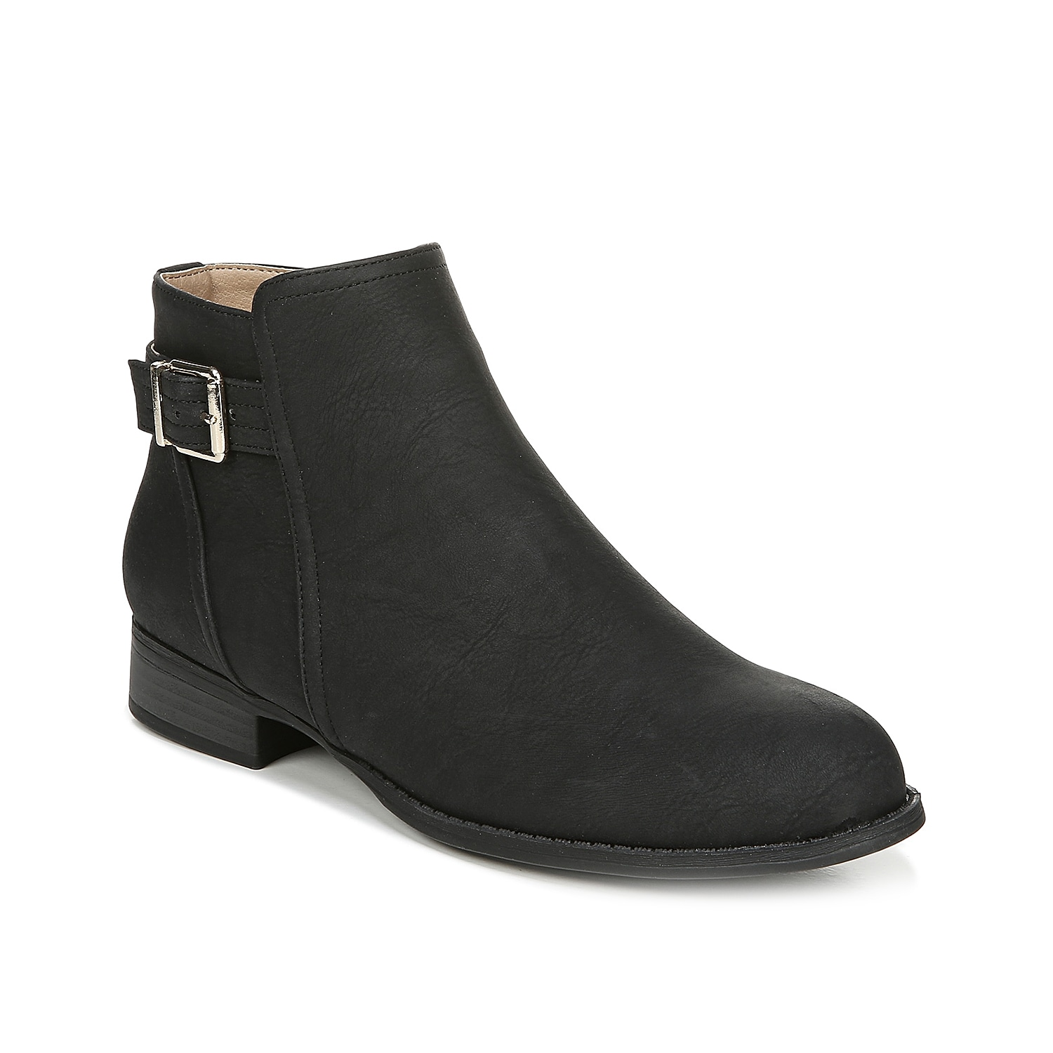 Streamline your look with the Fiery bootie from LifeStride. These ankle boots feature a bold buckle at the topline and a low block heel for a hint of height. Click here for Boot Measuring Guide.
