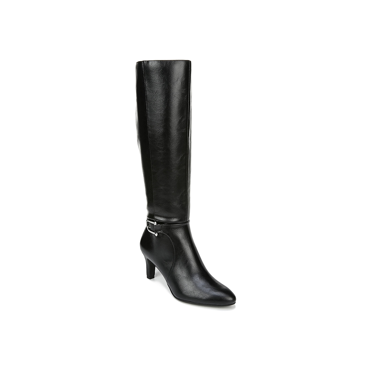 Amplify your cold-weather look with the Galina boot from LifeStride. These boots feature an ornate buckle accent at the ankle and a heel that will bring just-right height to jeans or a pencil skirt. Click here for Boot Measuring Guide.
