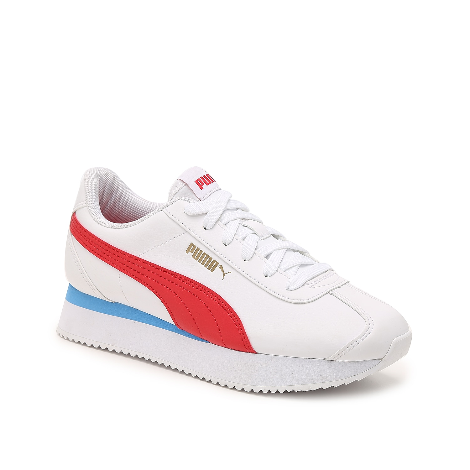 The Turino sneaker from Puma will be perfect for your casual shoe collection. This low-top jogger features a lightweight, retro-inspired design and will easily pair with your favorite athleisure essentials.