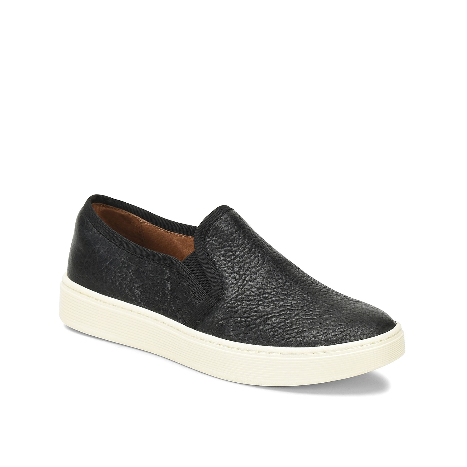 The Somers sneaker from Sofft will bring plenty of attitude to any outfit. These slip-ons feature a rich leather upper and are grounded with a multi-layer insole with an arch cookie for superior support.