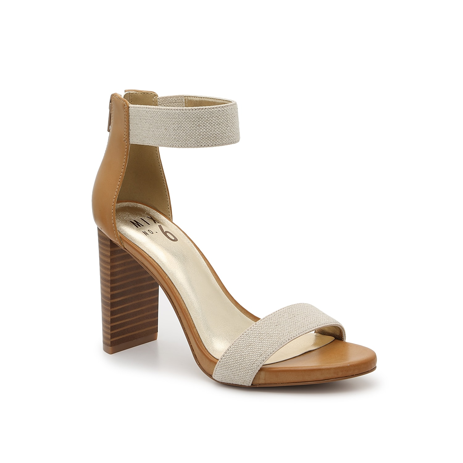 Take confident struts when wearing the Corabel sandal from Mix No. 6. This two-piece pair is fashioned with a unique heel and structured footbed for comfortable steps!