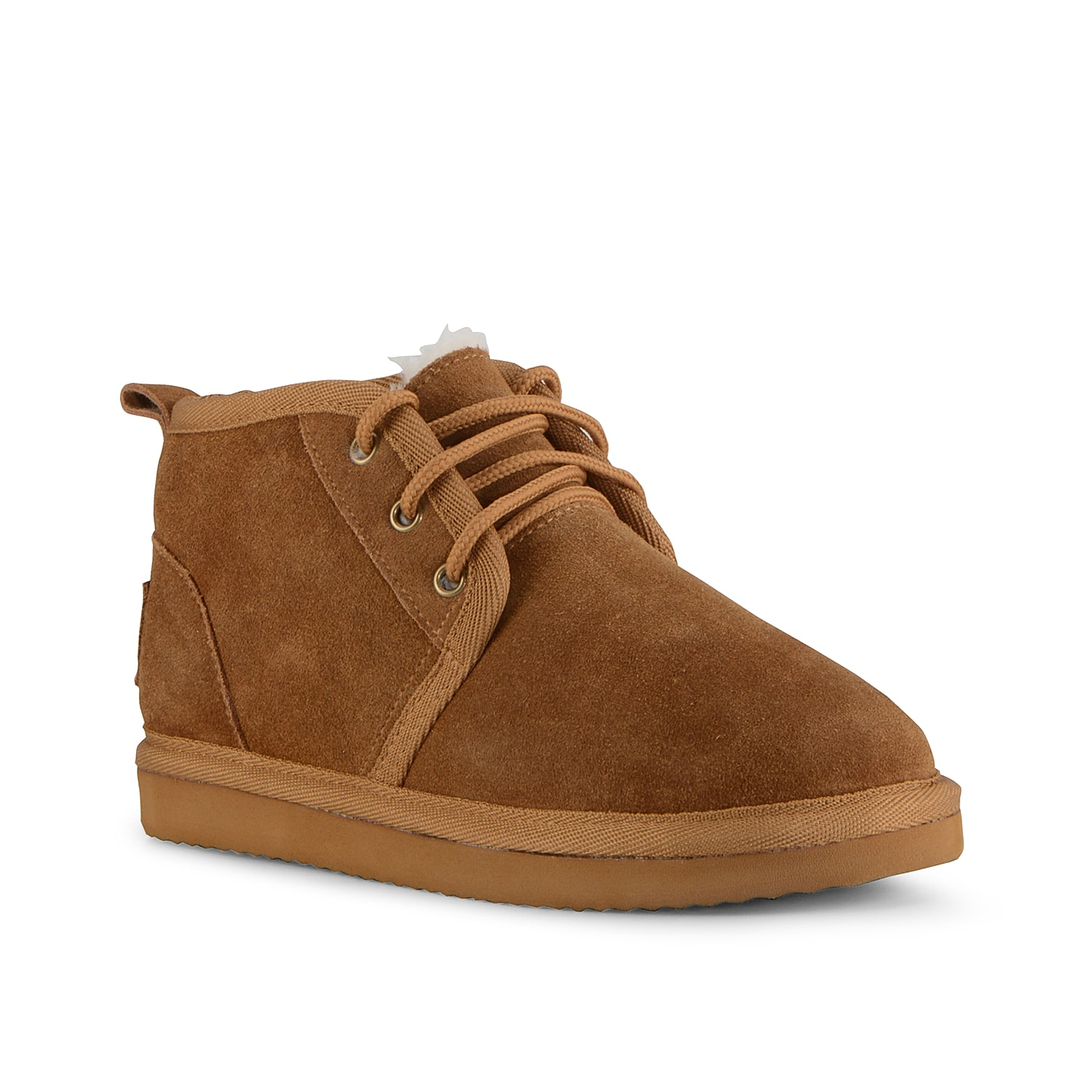 Bring a laid-back look to your shoe collection with the Sequoia chukka boot from Lugz. This lace-up pair is fashioned with a soft suede upper and a faux shearling lining for cozy comfort! Click here for Boot Measuring Guide.