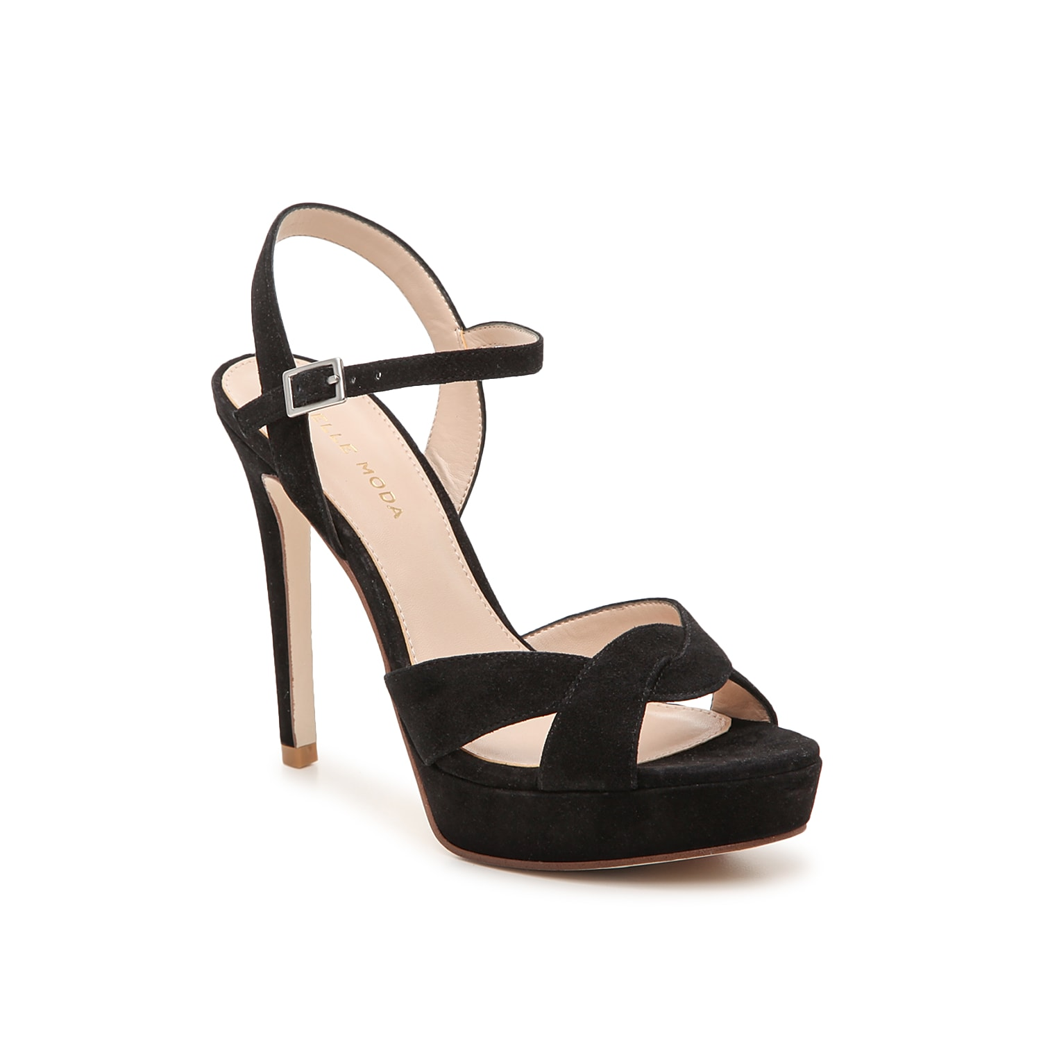 Reach new heights in the Danielle platform sandal from Pelle Moda. This silhouette is fashioned with soft suede upper and a braided toe strap for extra allure!