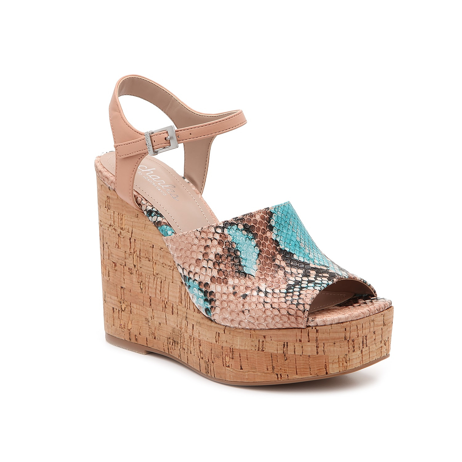 The Dory sandal from Charles by Charles David is a can\\\'t-miss addition to your warm-weather look. These platforms feature a square toe and towering cork wedge heel for modern allure.