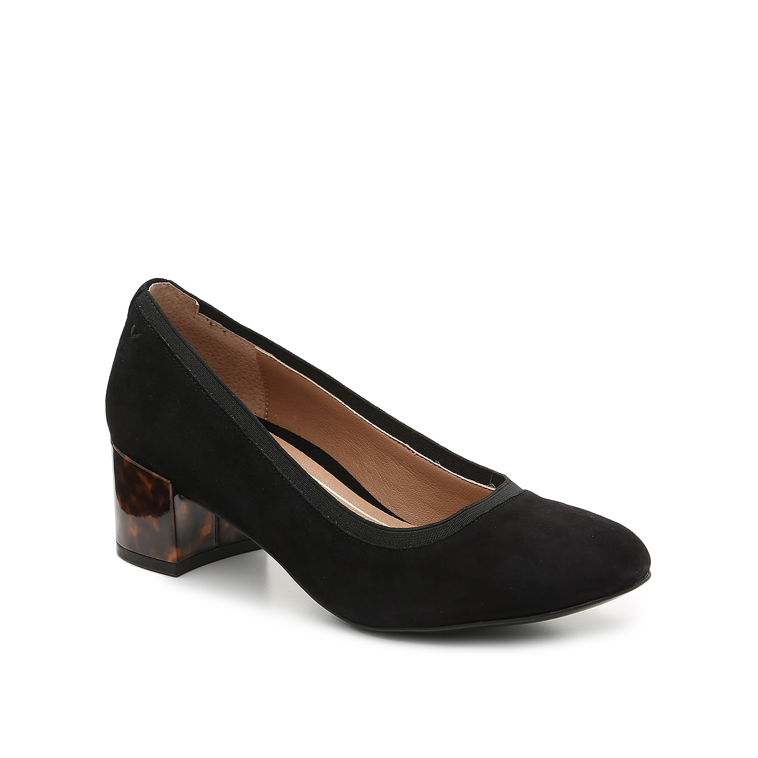 Give your ensemble long-lasting style with the Natalie pump from Vionic. This silhouette is fashioned with soft suede and a marble covered heel that completes your entire look!