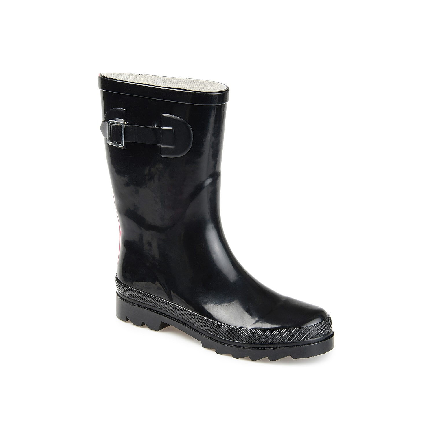 Don\\\'t be afraid to splash around in the Seattle rain boot from Journee Collection. This waterproof pair features a bold design to brighten up gloomy days.Click here for Boot Measuring Guide.