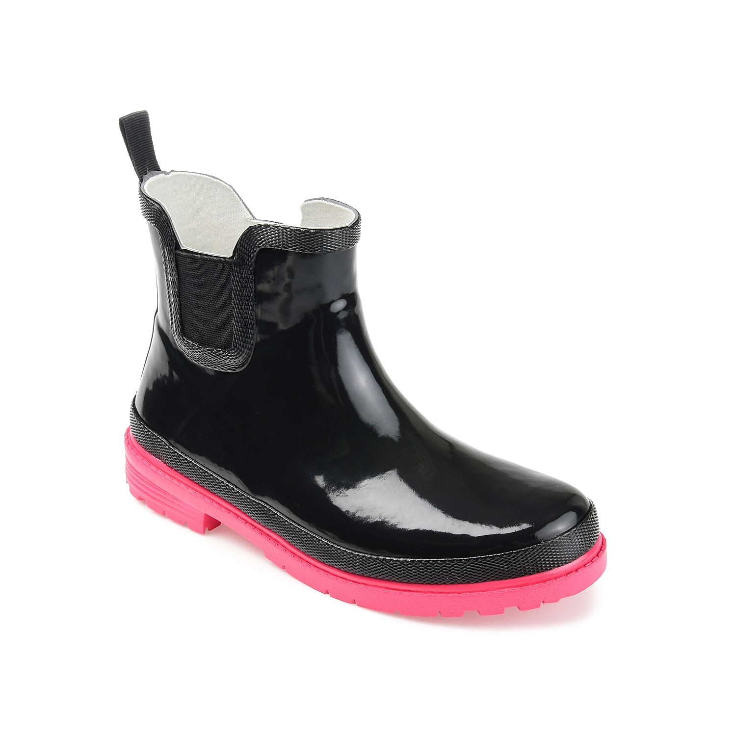 Bring on the rainy season with the Tekoa rain boot from Journee Collection.This waterproof pair features a fun design to brighten up gloomy days.Click here for Boot Measuring Guide.