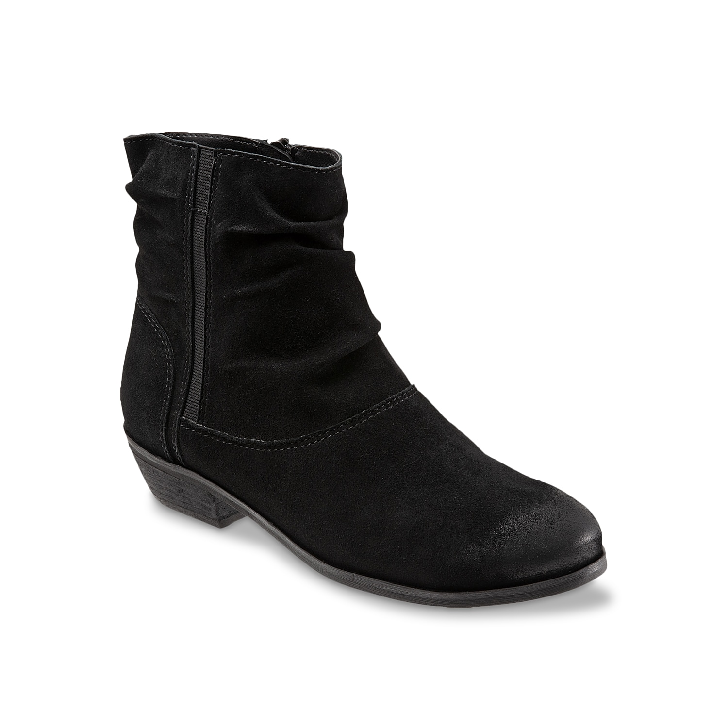 Pull on an ankle boot that will carry you through the changing seasons! The Softwalk Rochelle bootie has a chic ruched vamp and the chunky block heel that creates a solid fashion foundation.